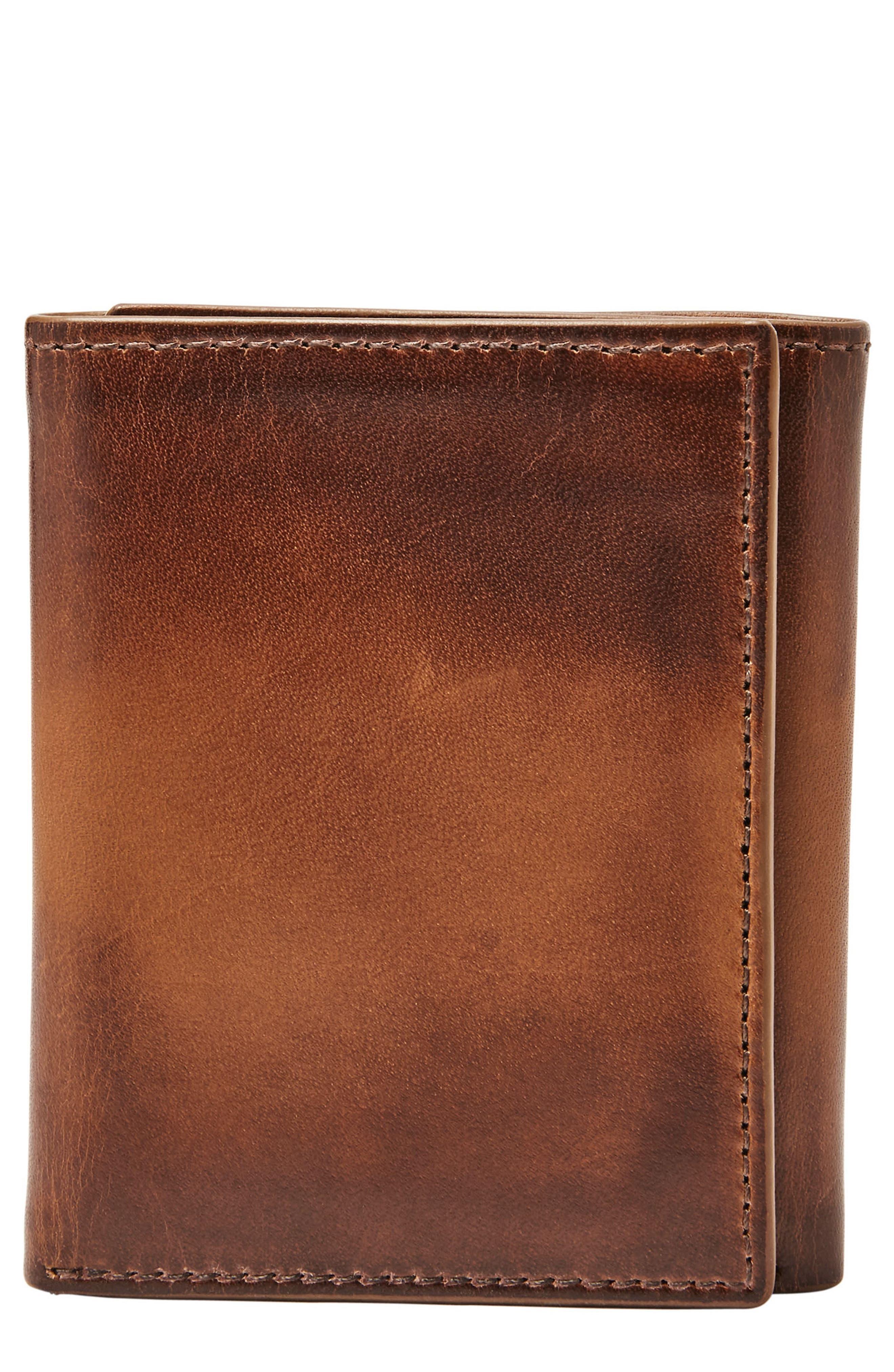Paul Leather Wallet,                         Main,                         color, Cognac