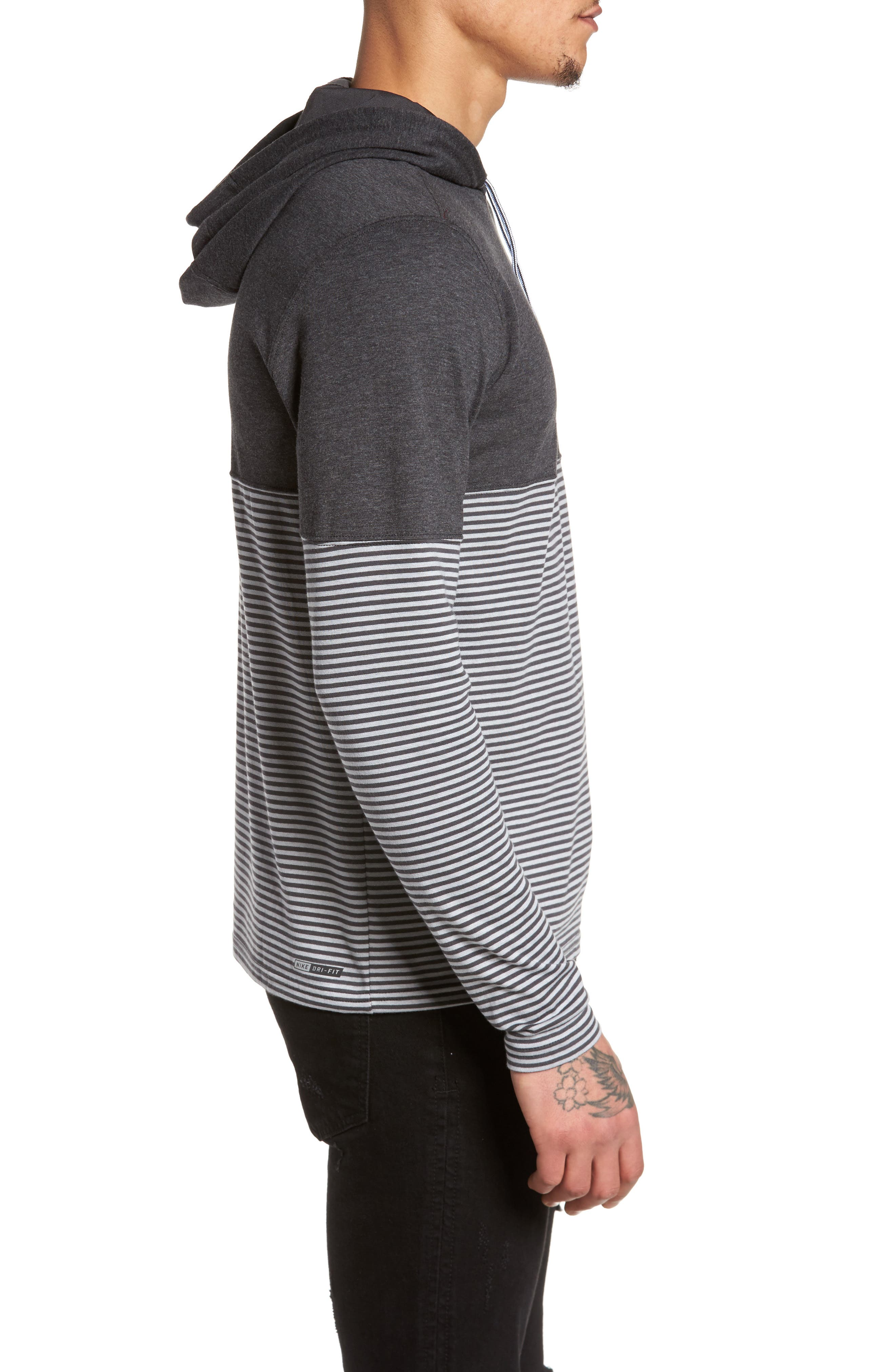 Recess Dry Hoodie,                             Alternate thumbnail 3, color,                             Black Heather