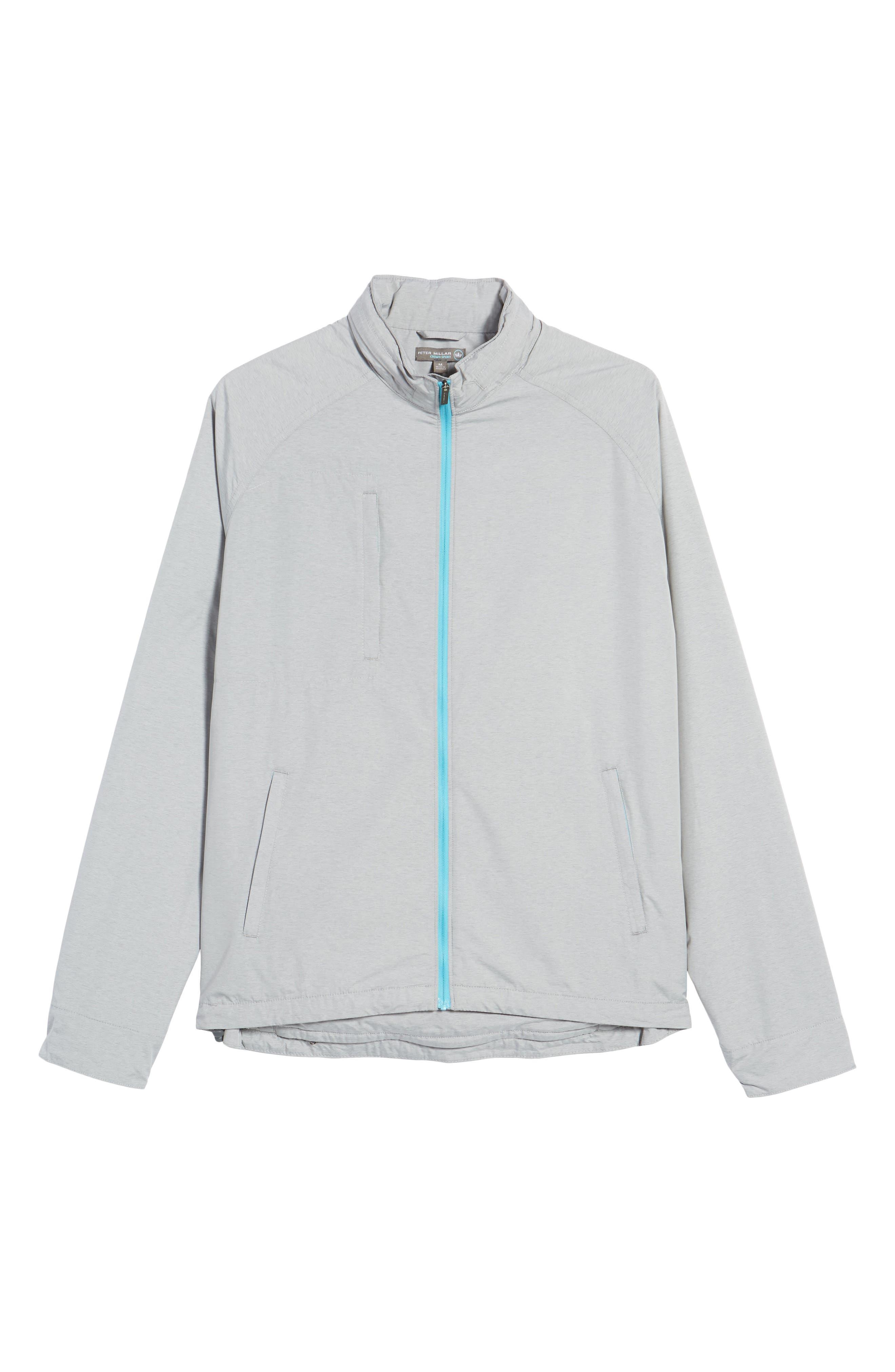 Nagano Windbreaker Jacket,                             Alternate thumbnail 6, color,                             British Grey