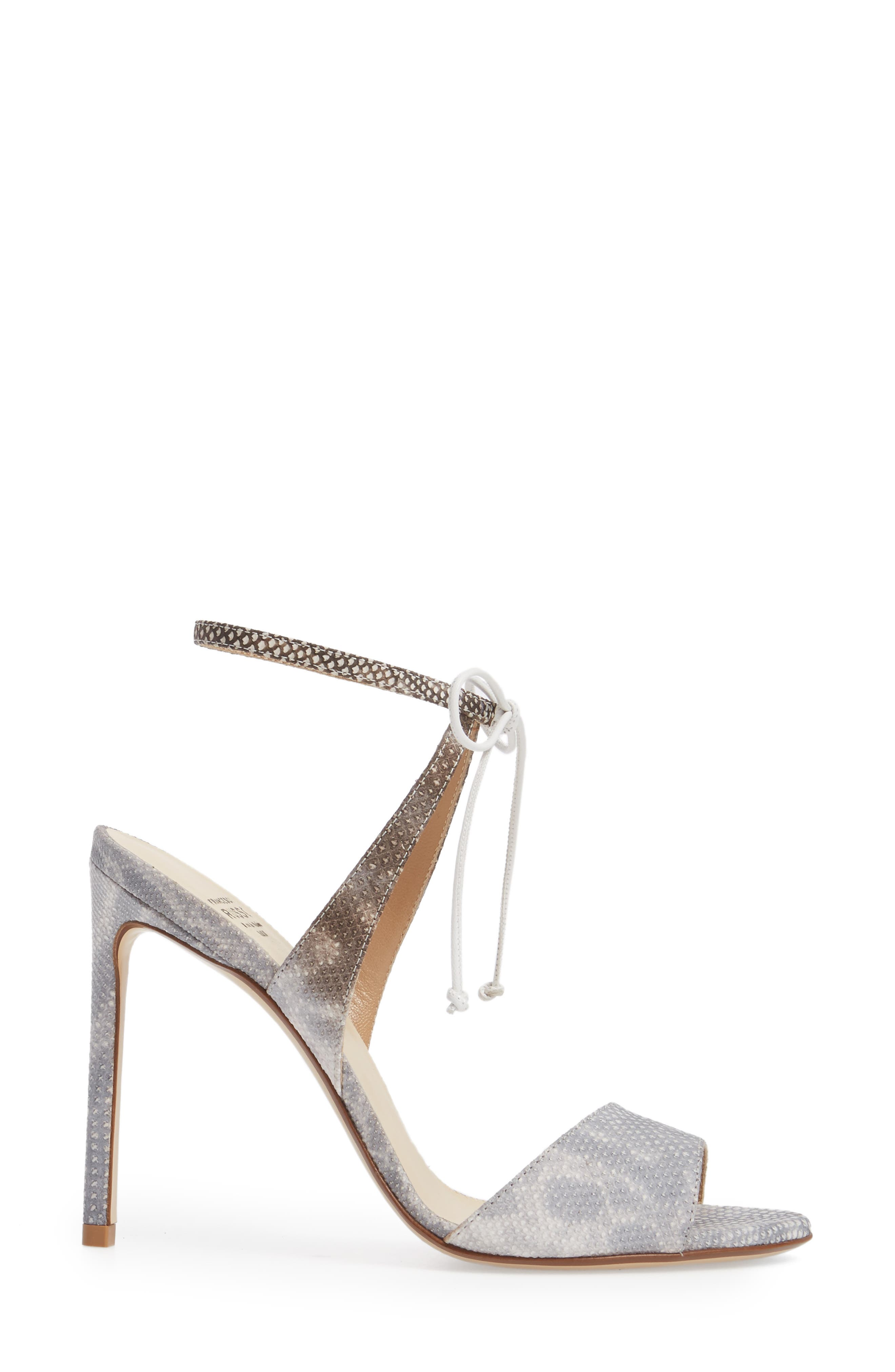 Ankle Strap Sandal,                             Alternate thumbnail 3, color,                             White