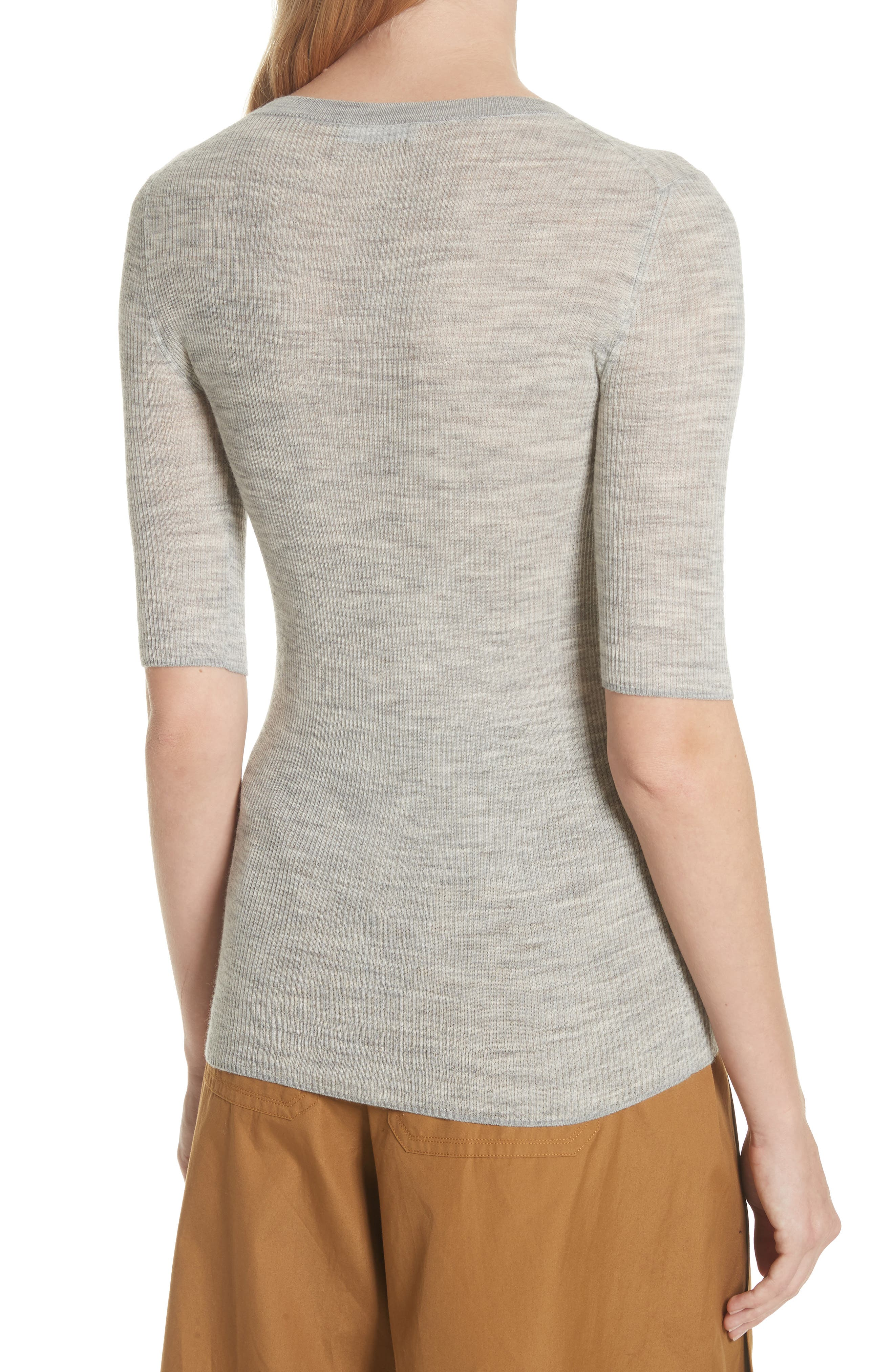 Ribbed Sweater,                             Alternate thumbnail 2, color,                             Light Heather Grey