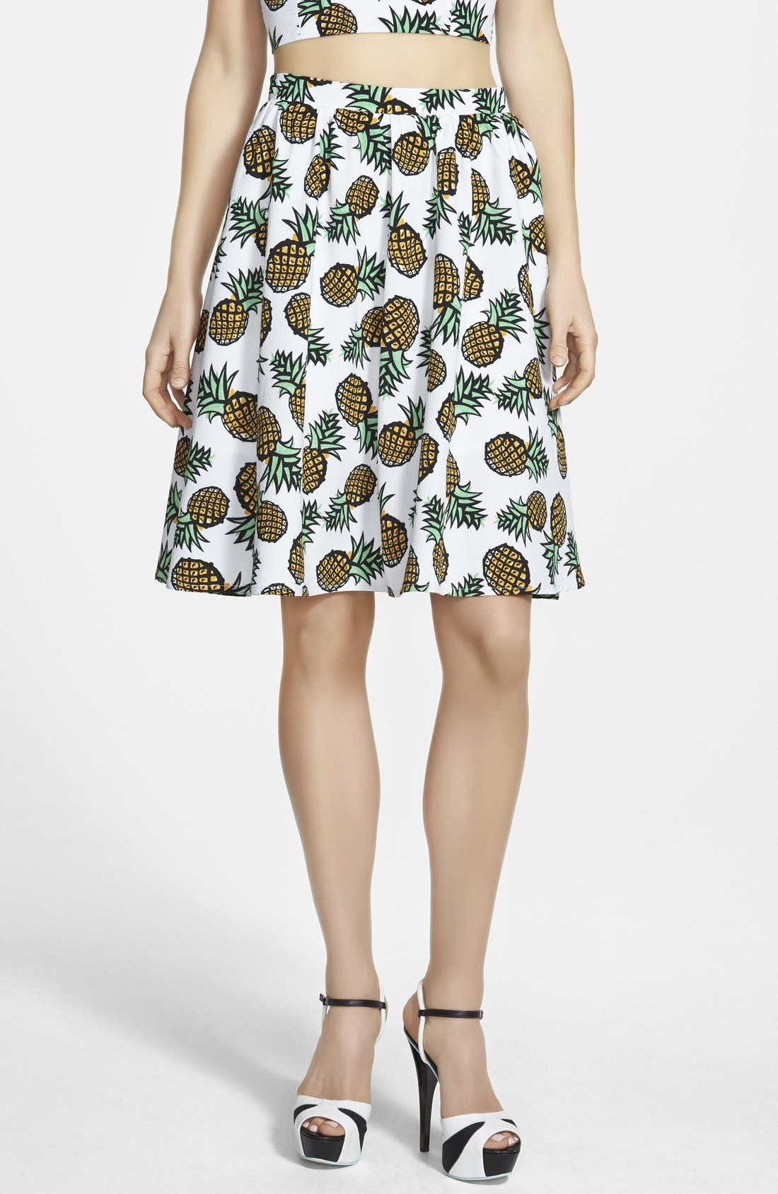 Main Image - Piece Goods Pineapple Skirt