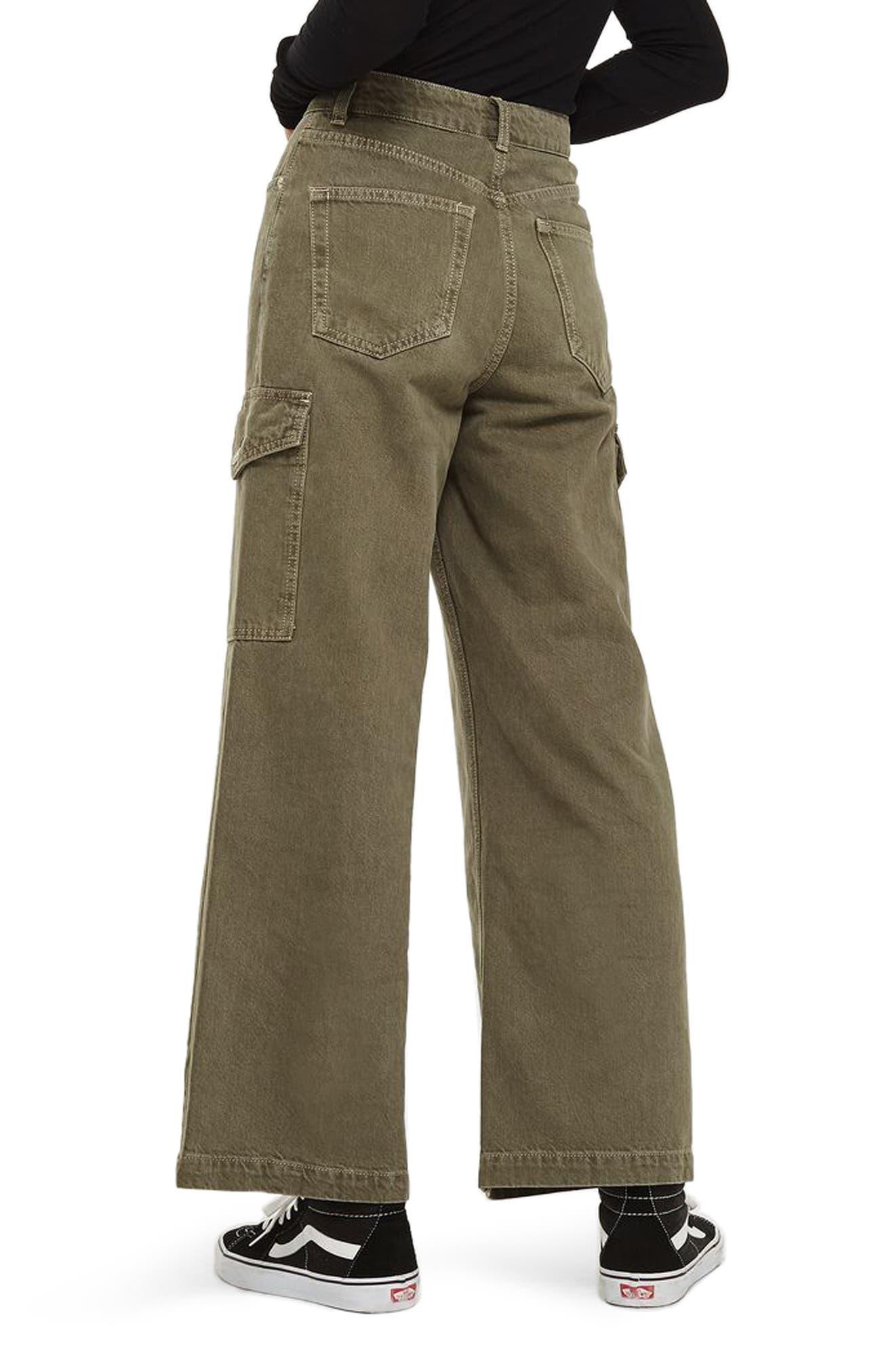 Alternate Image 2  - Topshop Wide Leg Crop Cargo Jeans