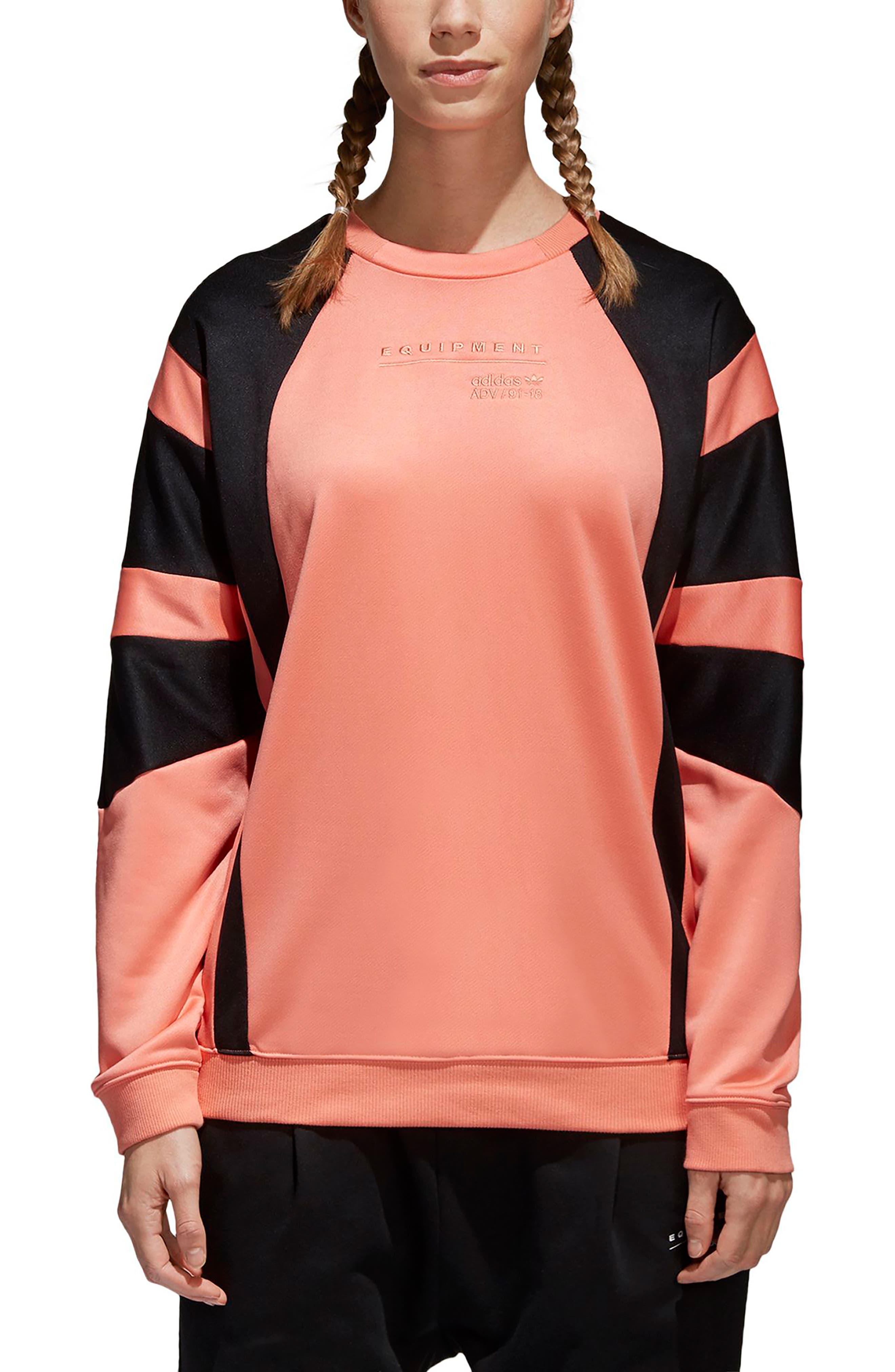 EQT Sweatshirt,                             Main thumbnail 1, color,                             Chalk Coral