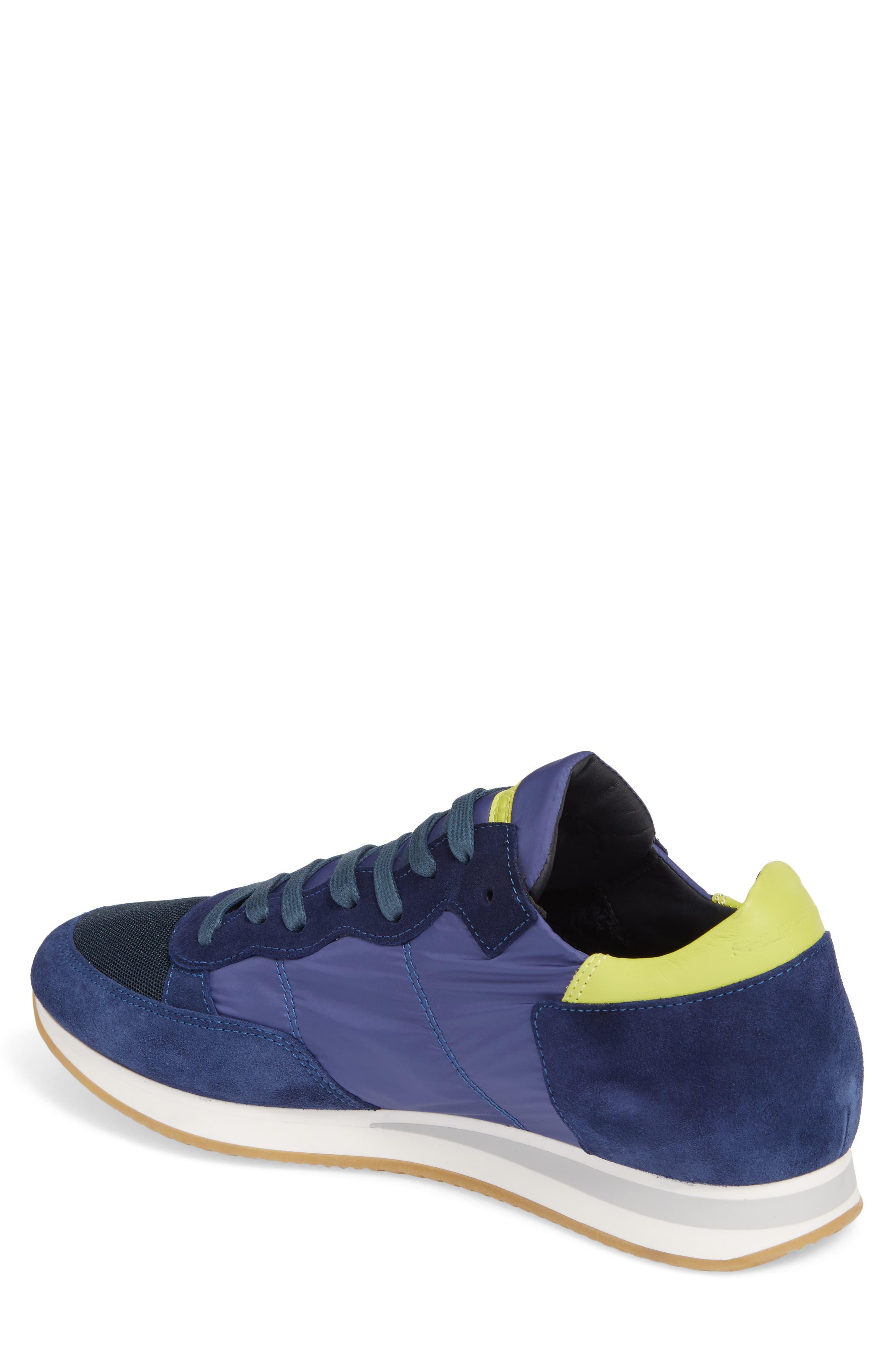 Tropez Low Top Sneaker,                             Alternate thumbnail 2, color,                             Blue/ Citron