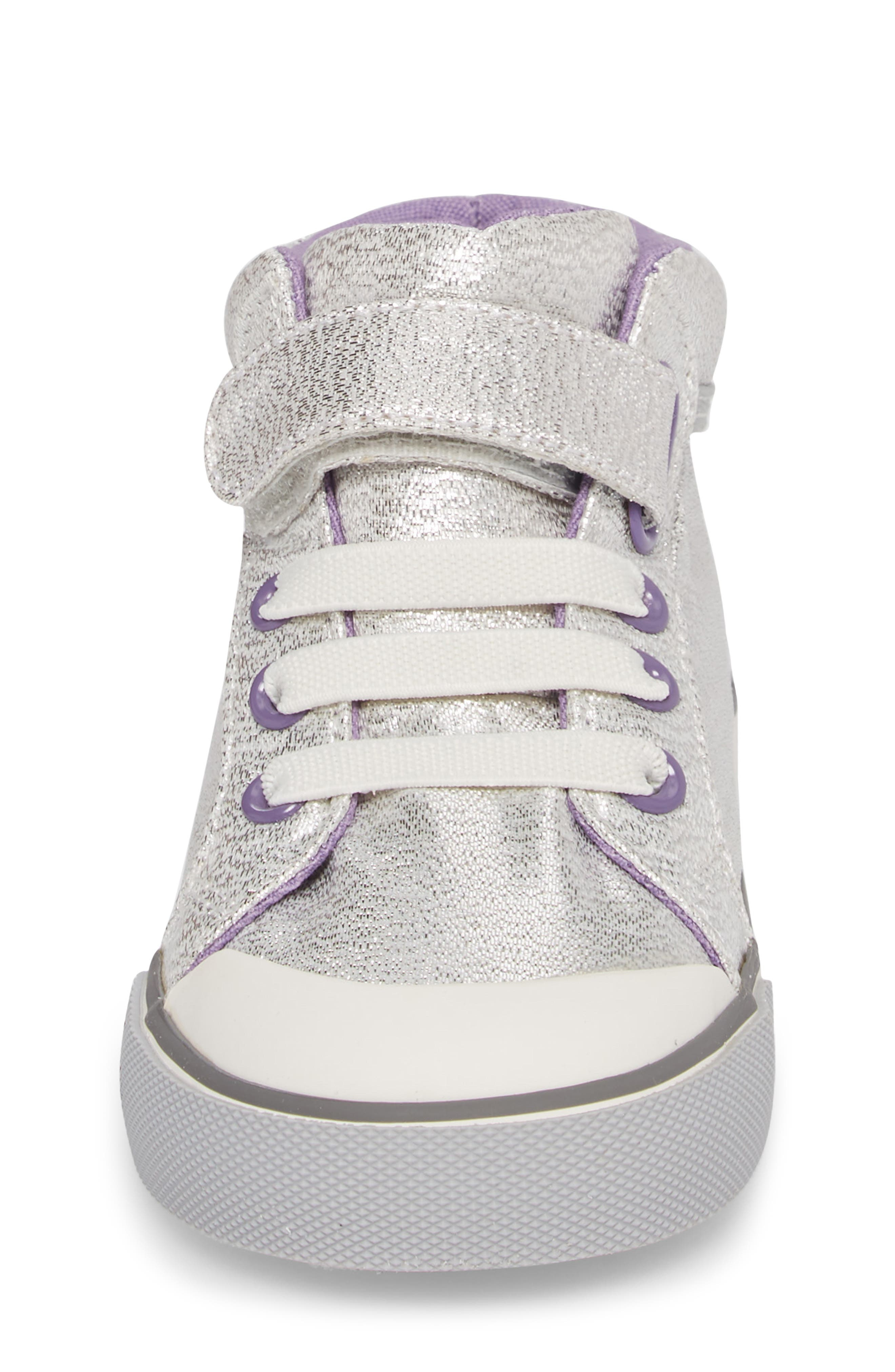 Alternate Image 4  - See Kai Run Peyton Metallic Mid Top Sneaker (Baby, Walker, Toddler & Little Kid)