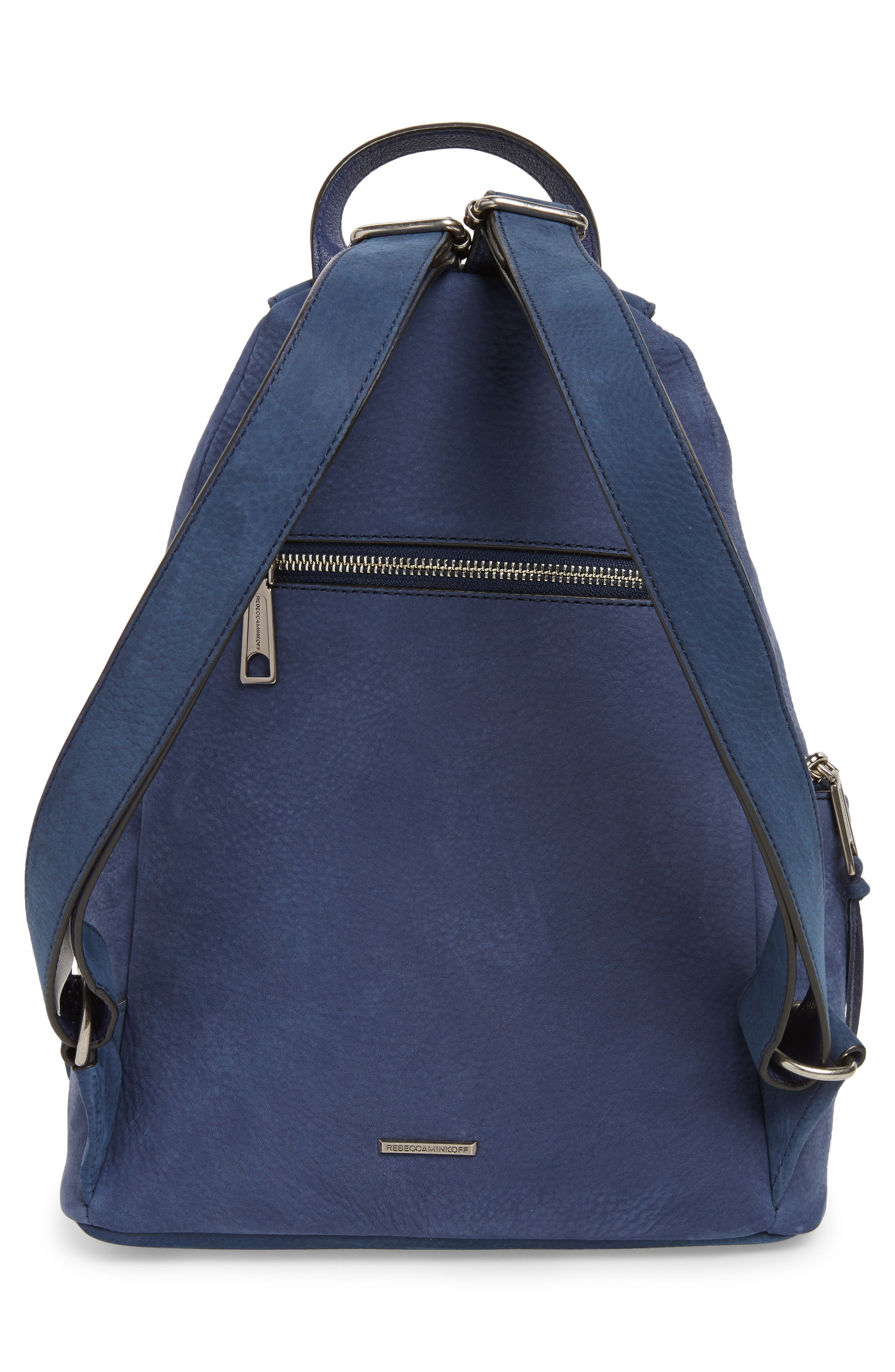 Julian Convertible Nubuck Leather Backpack,                             Alternate thumbnail 3, color,                             True Navy