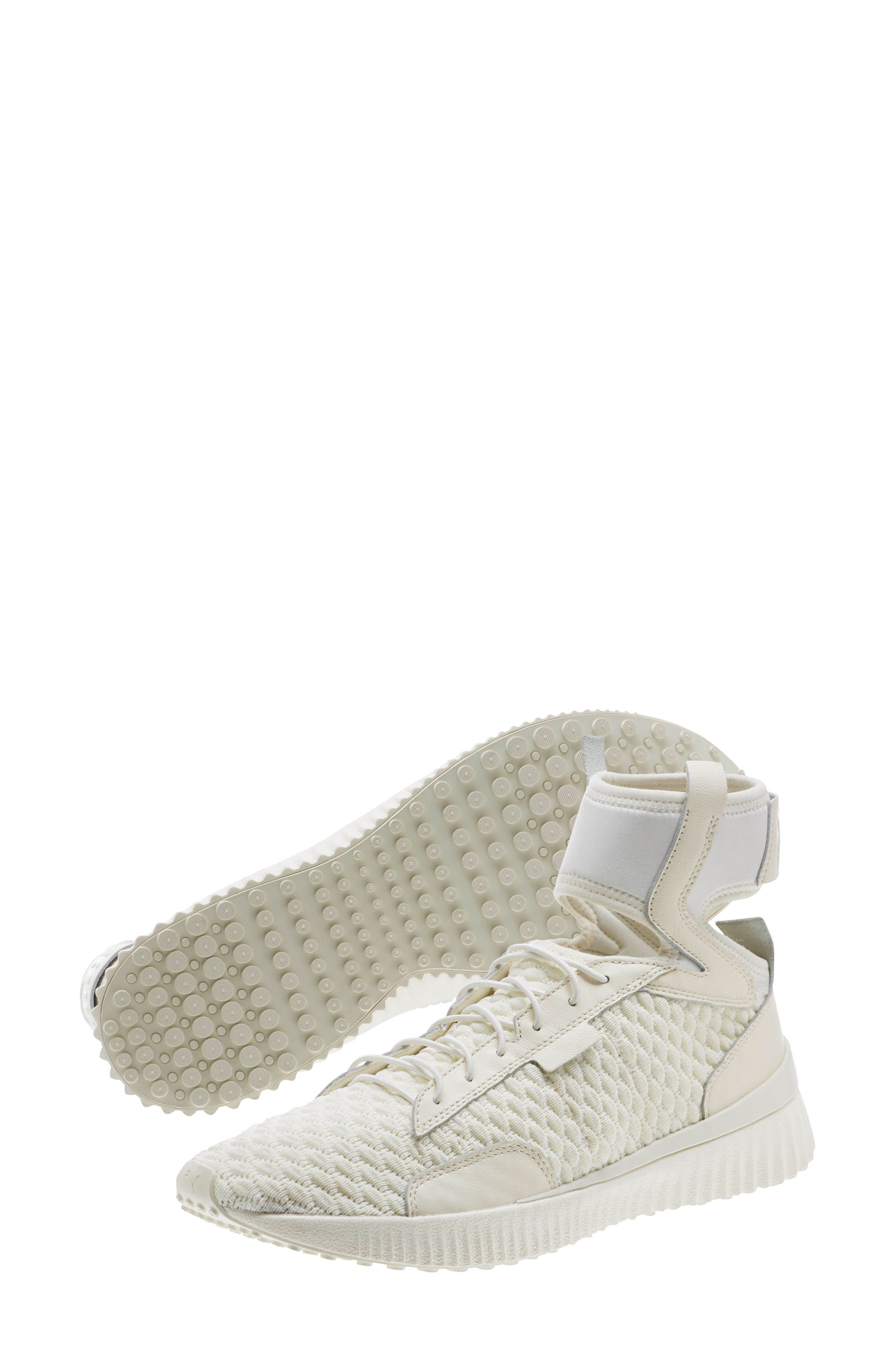 FENTY PUMA by Rihanna High Top Sneaker,                             Alternate thumbnail 7, color,                             Vanilla Ice/ Sterling Blue