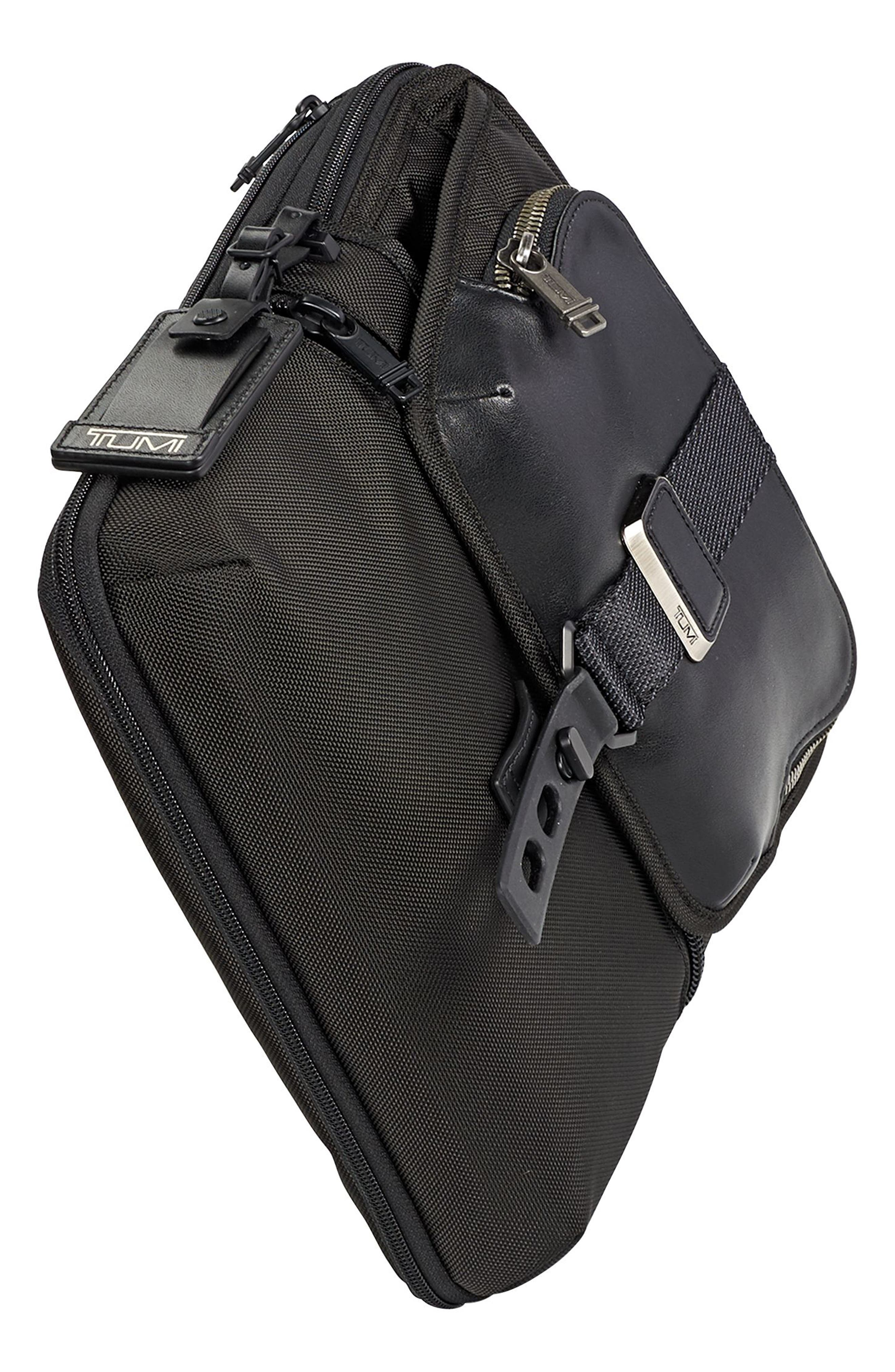 Alpha Bravo - Arnold Messenger Bag,                             Alternate thumbnail 6, color,                             Black