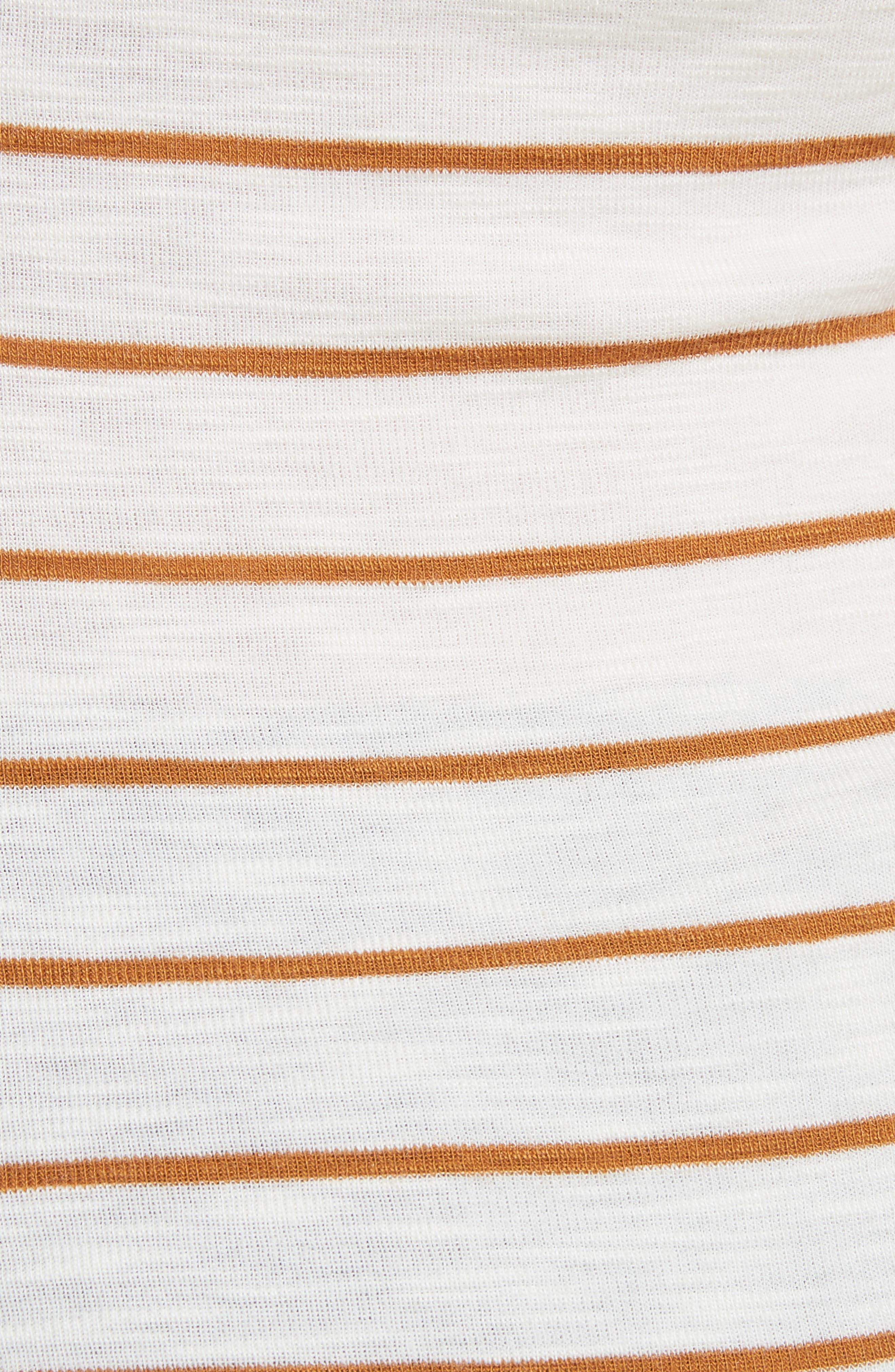 Scoop Neck Stripe Camisole,                             Alternate thumbnail 5, color,                             Vanilla/ Turmeric