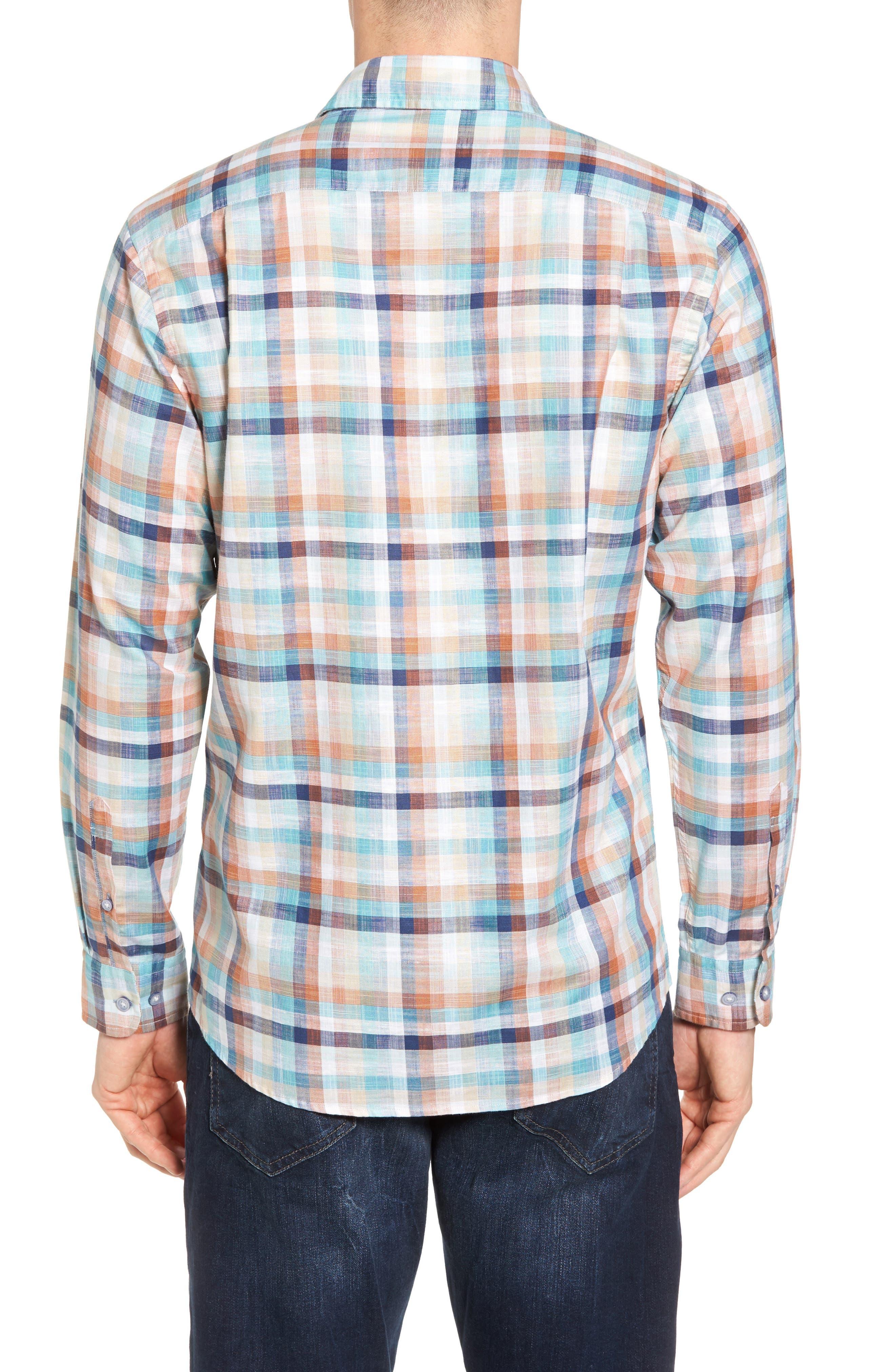 Blackburn Plaid Sport Shirt,                             Alternate thumbnail 2, color,                             Ochre