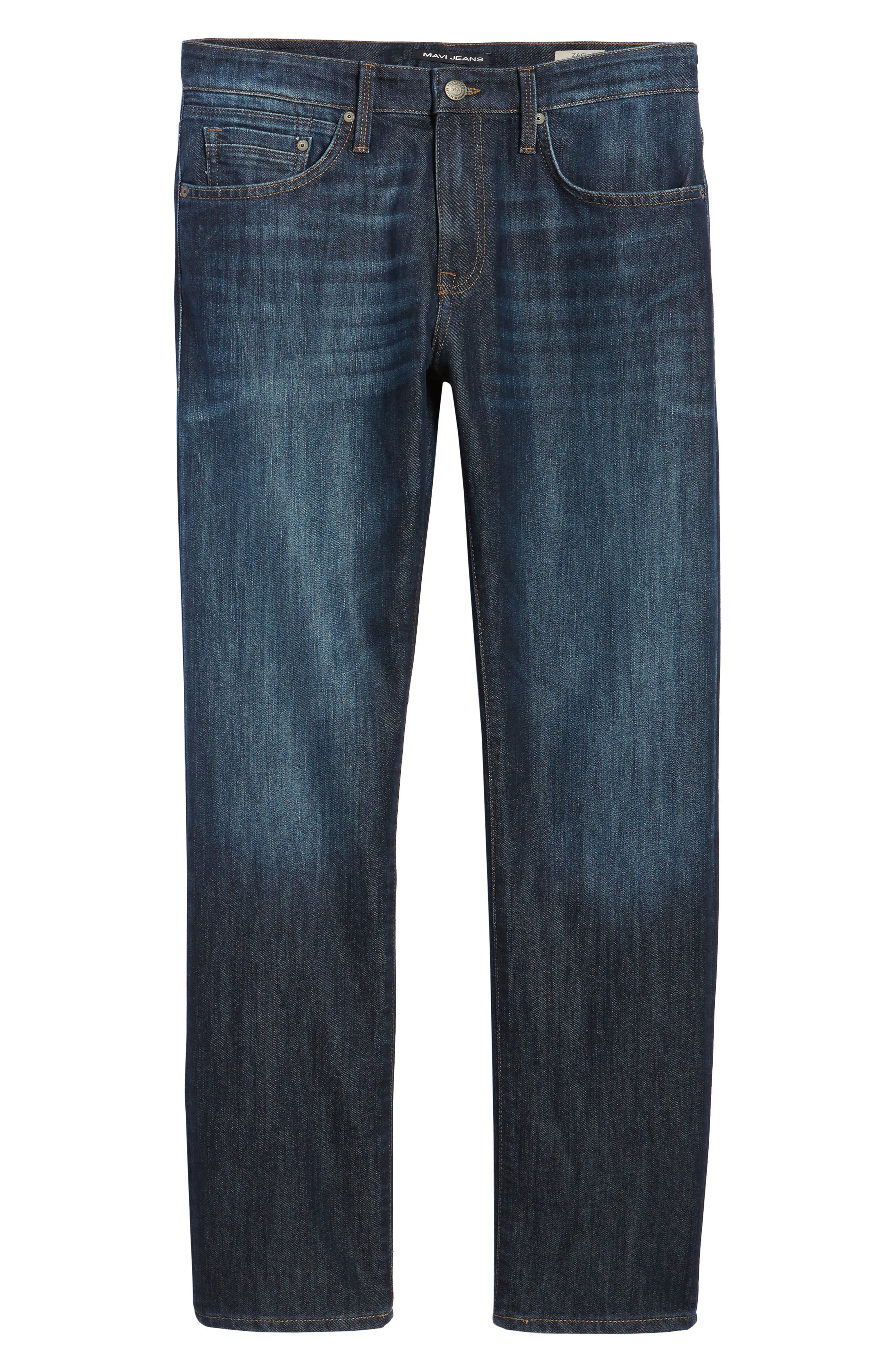 Zach Straight Leg Jeans,                             Alternate thumbnail 6, color,                             Rinse Stanford