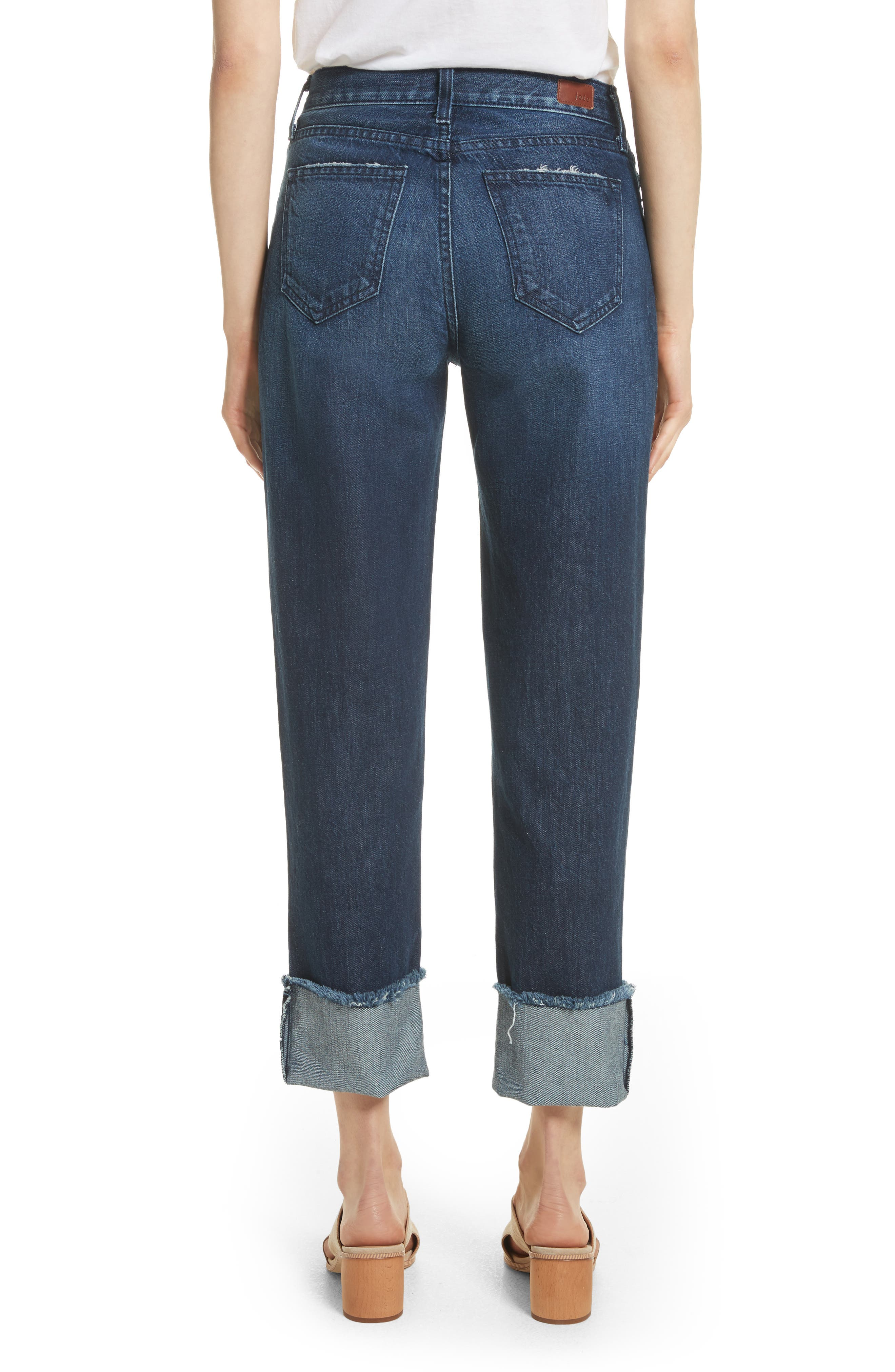 Josie Straight Leg Crop Cuff Jeans,                             Alternate thumbnail 2, color,                             Danseur