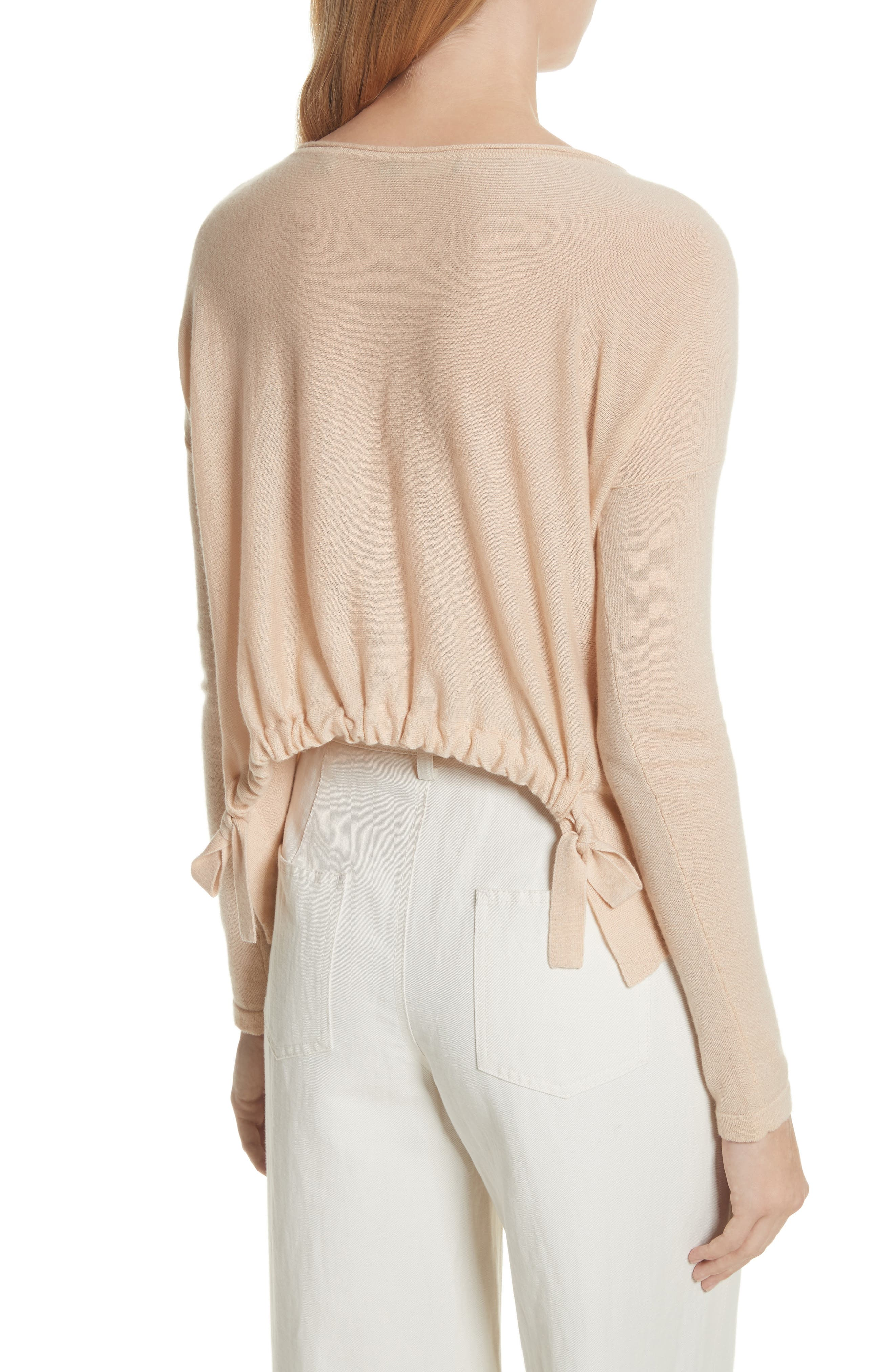 Cinched Back Cashmere Sweater,                             Alternate thumbnail 2, color,                             Praline