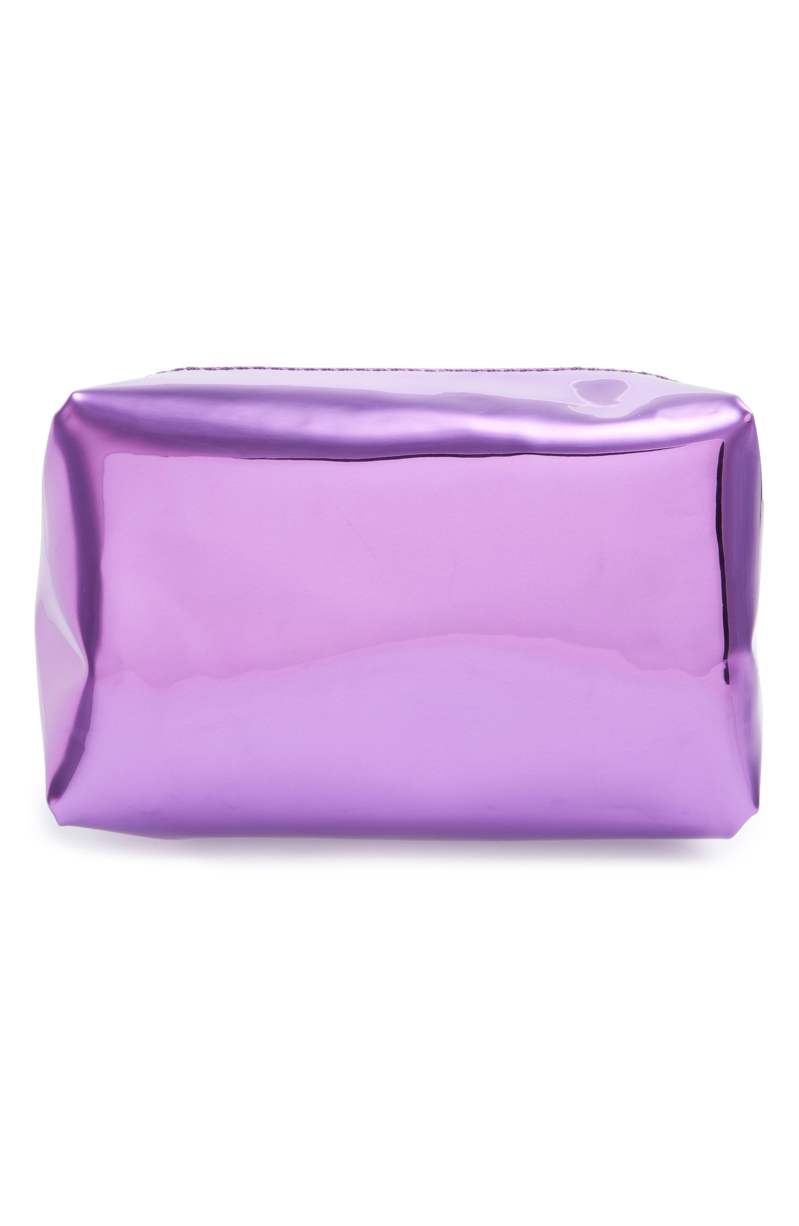 Alternate Image 2  - Yoki Bags Metallic Cosmetics Bag