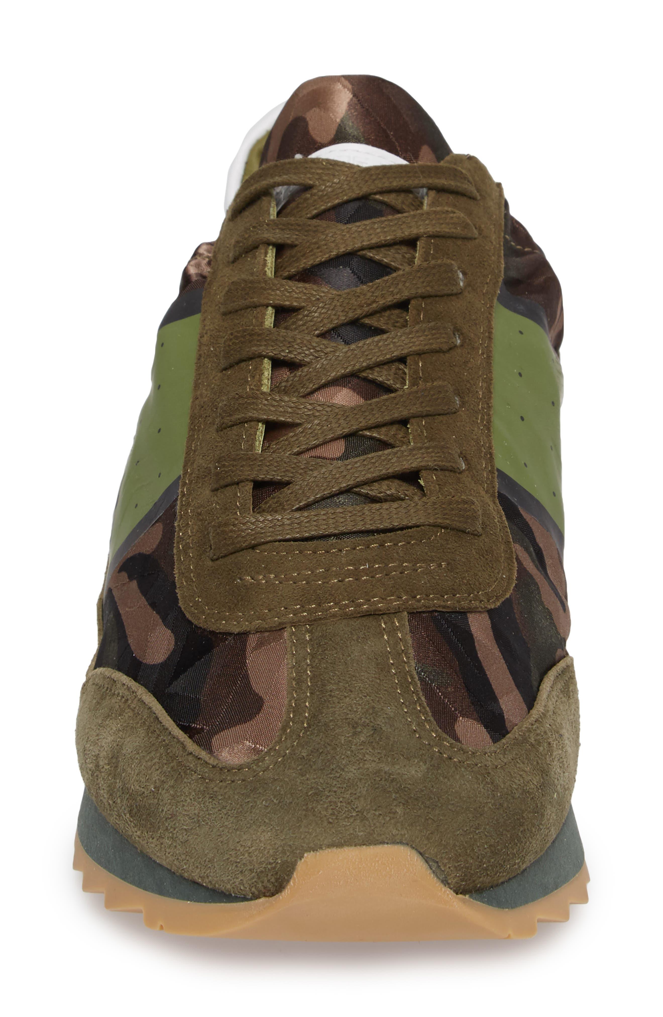 Toujours Sneaker,                             Alternate thumbnail 4, color,                             Green/ Green