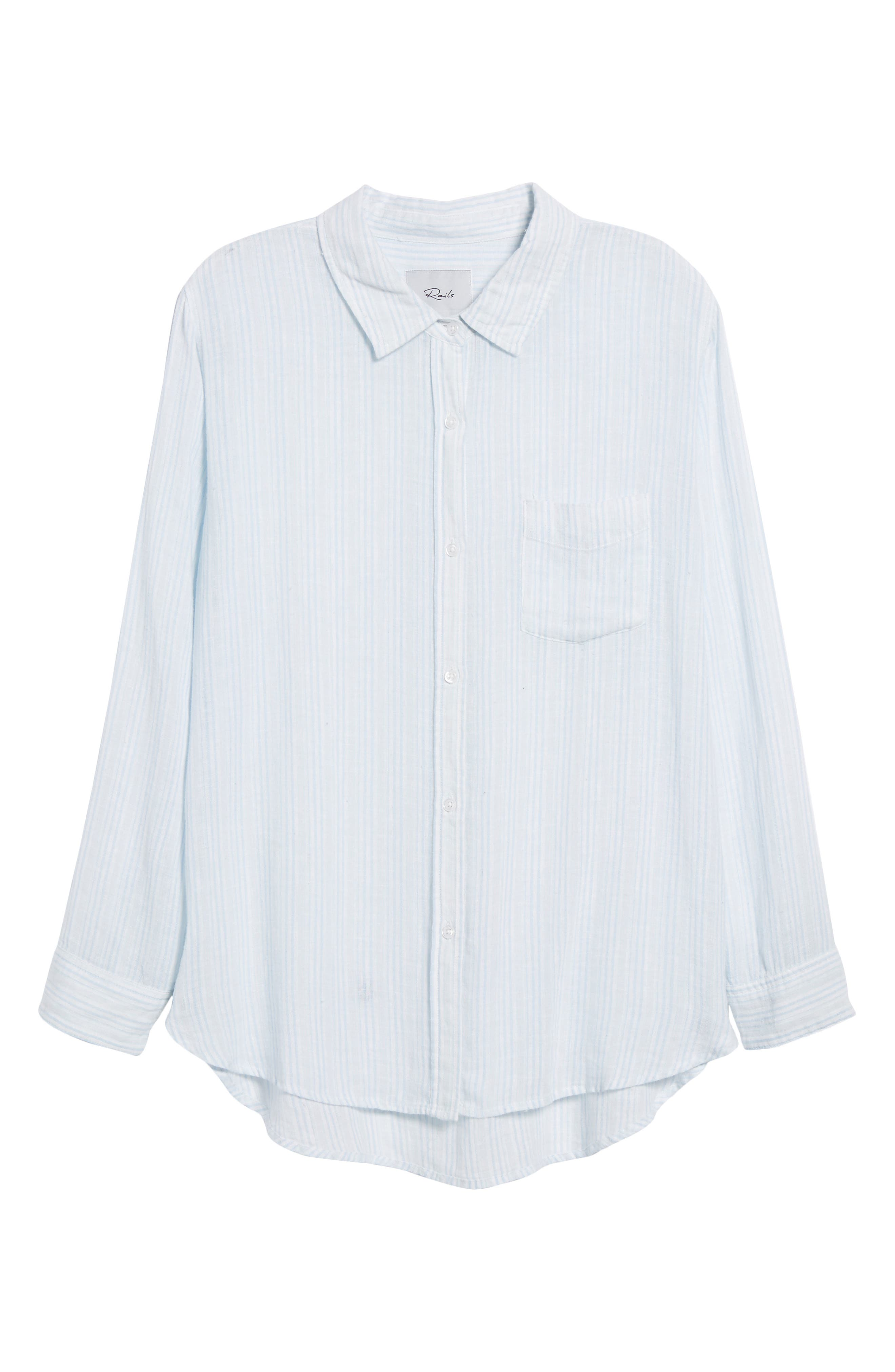 Charli Stripe Shirt,                             Alternate thumbnail 6, color,                             Playa Stripe
