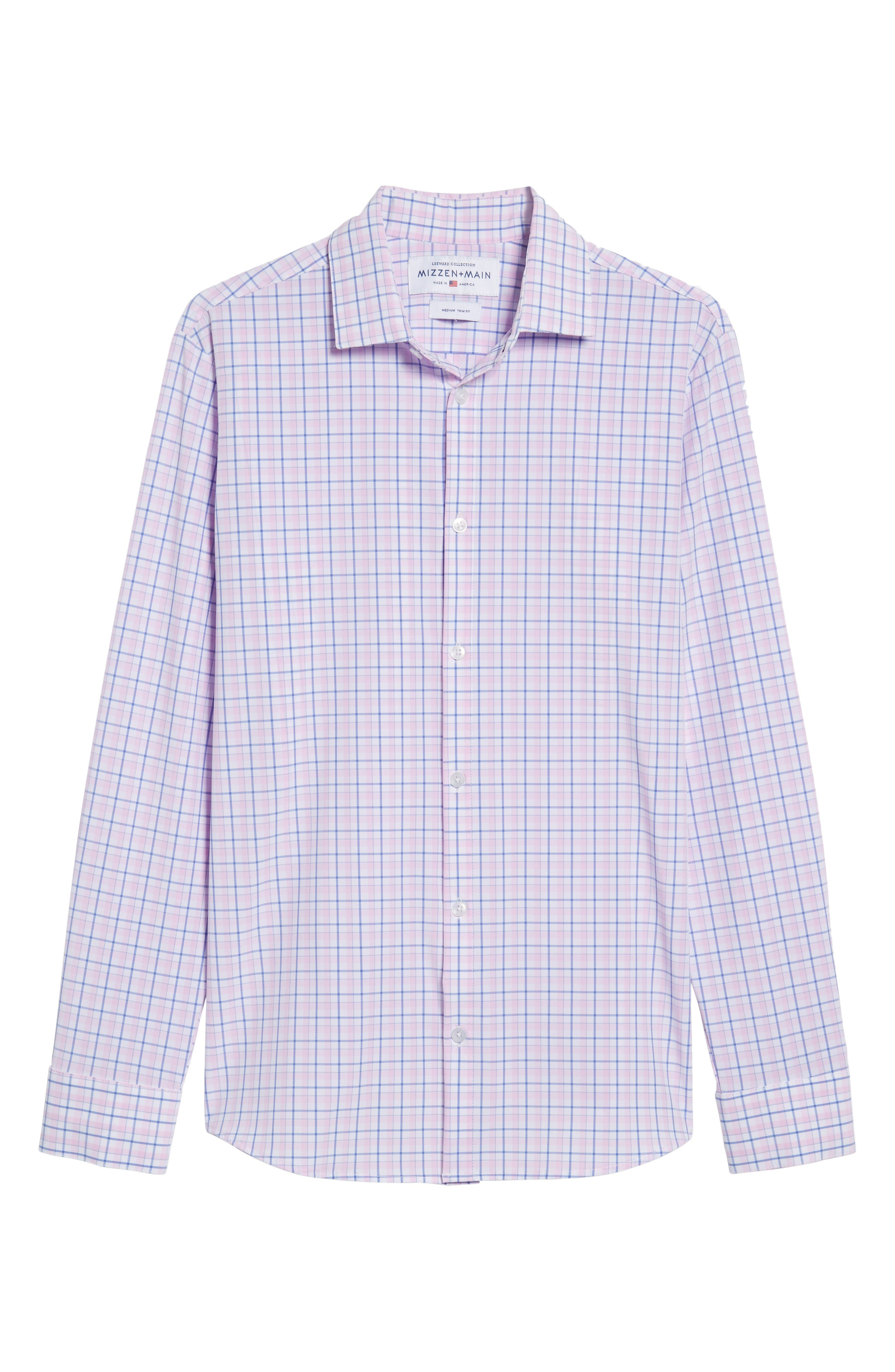 Wailea Plaid Sport Shirt,                             Alternate thumbnail 6, color,                             Pink