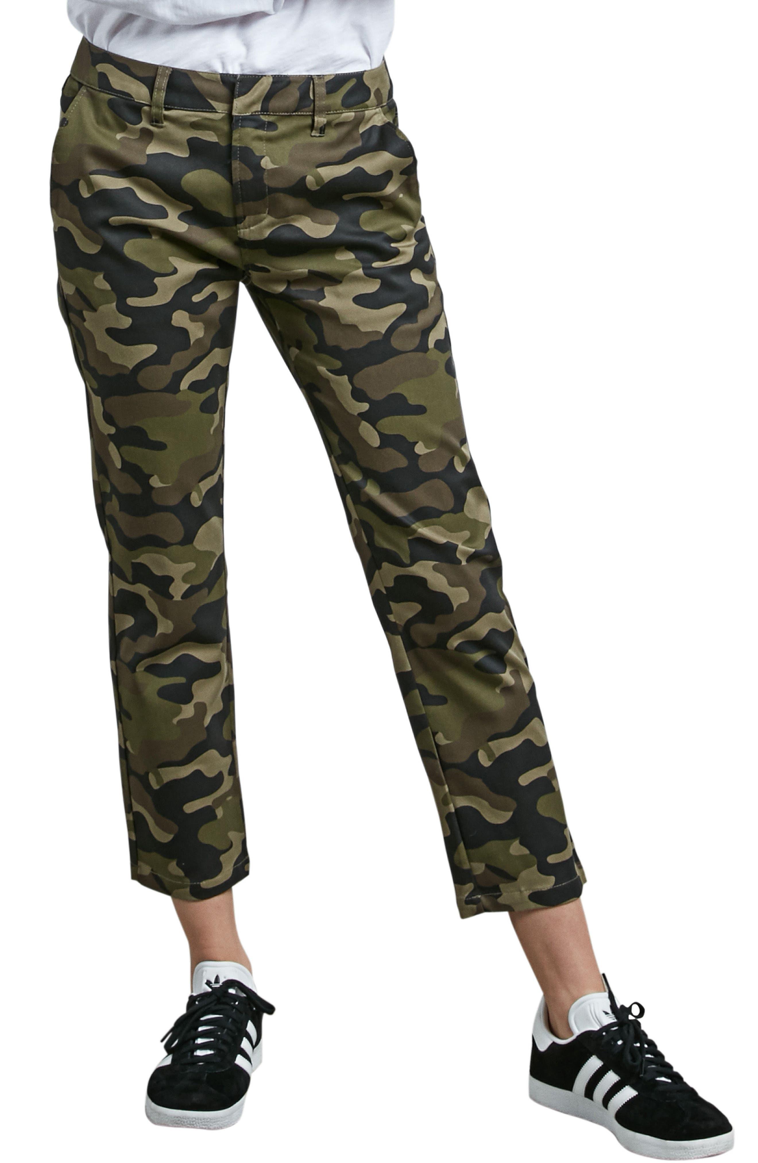 Frochickie Crop Pants,                             Main thumbnail 1, color,                             Dark Camo