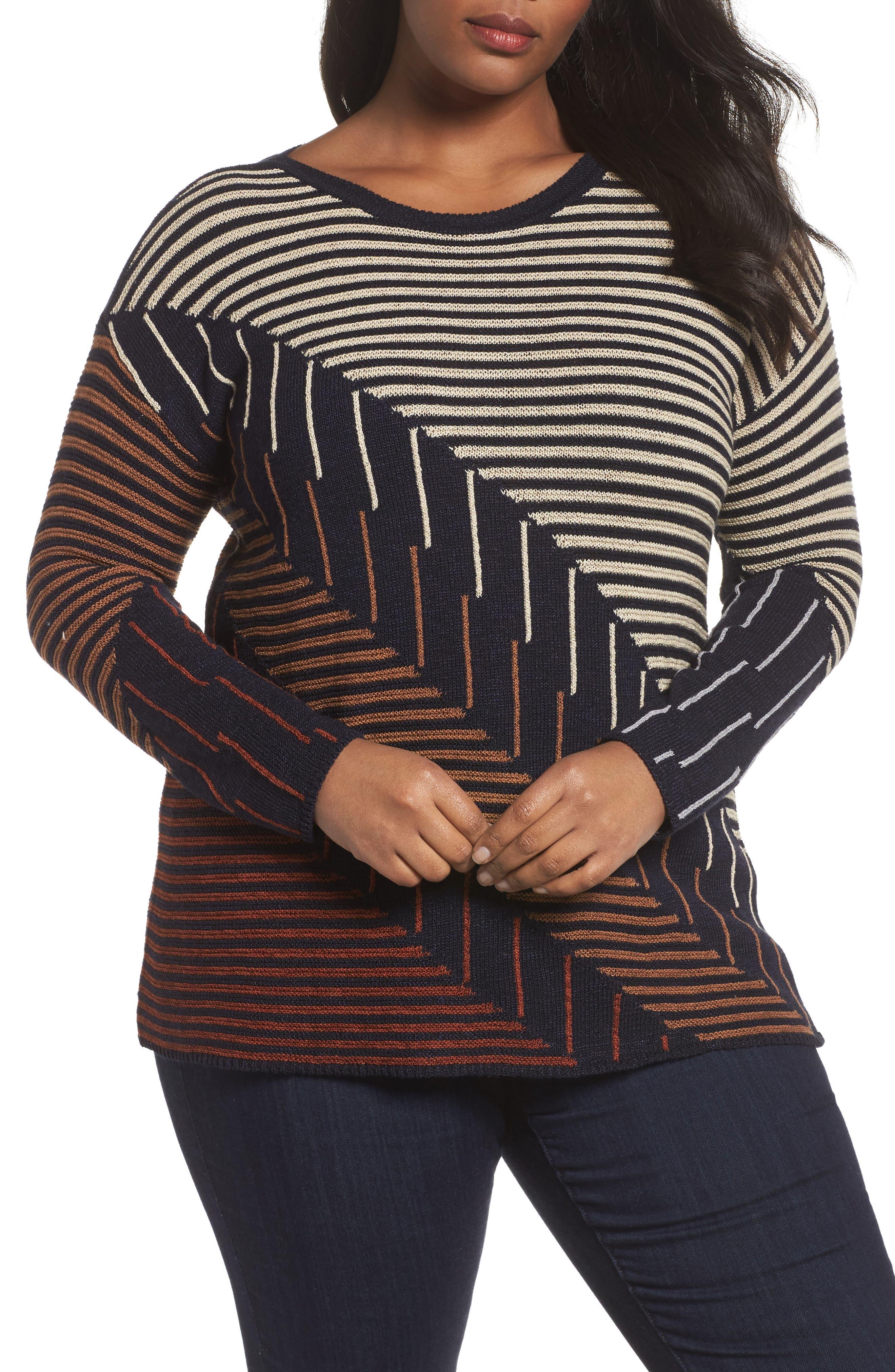 Alternate Image 1 Selected - NIC+ZOE Lagoon Sweater (Plus Size)