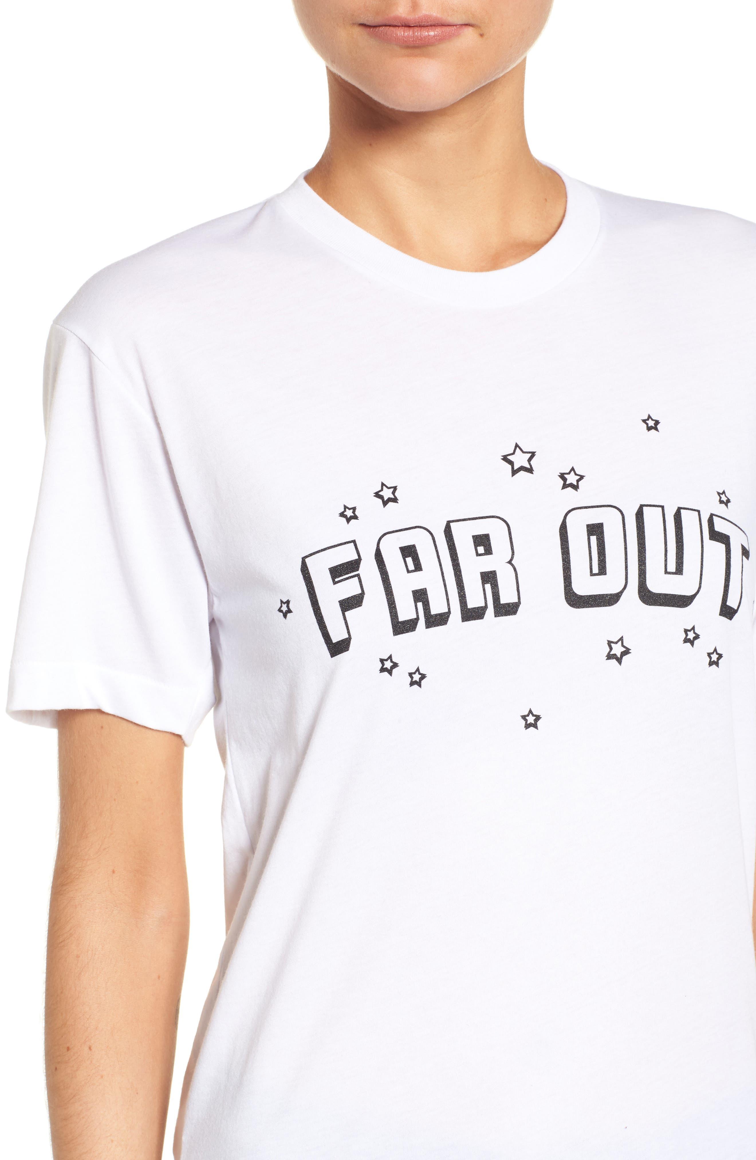 Far Out Tee,                             Alternate thumbnail 4, color,                             White