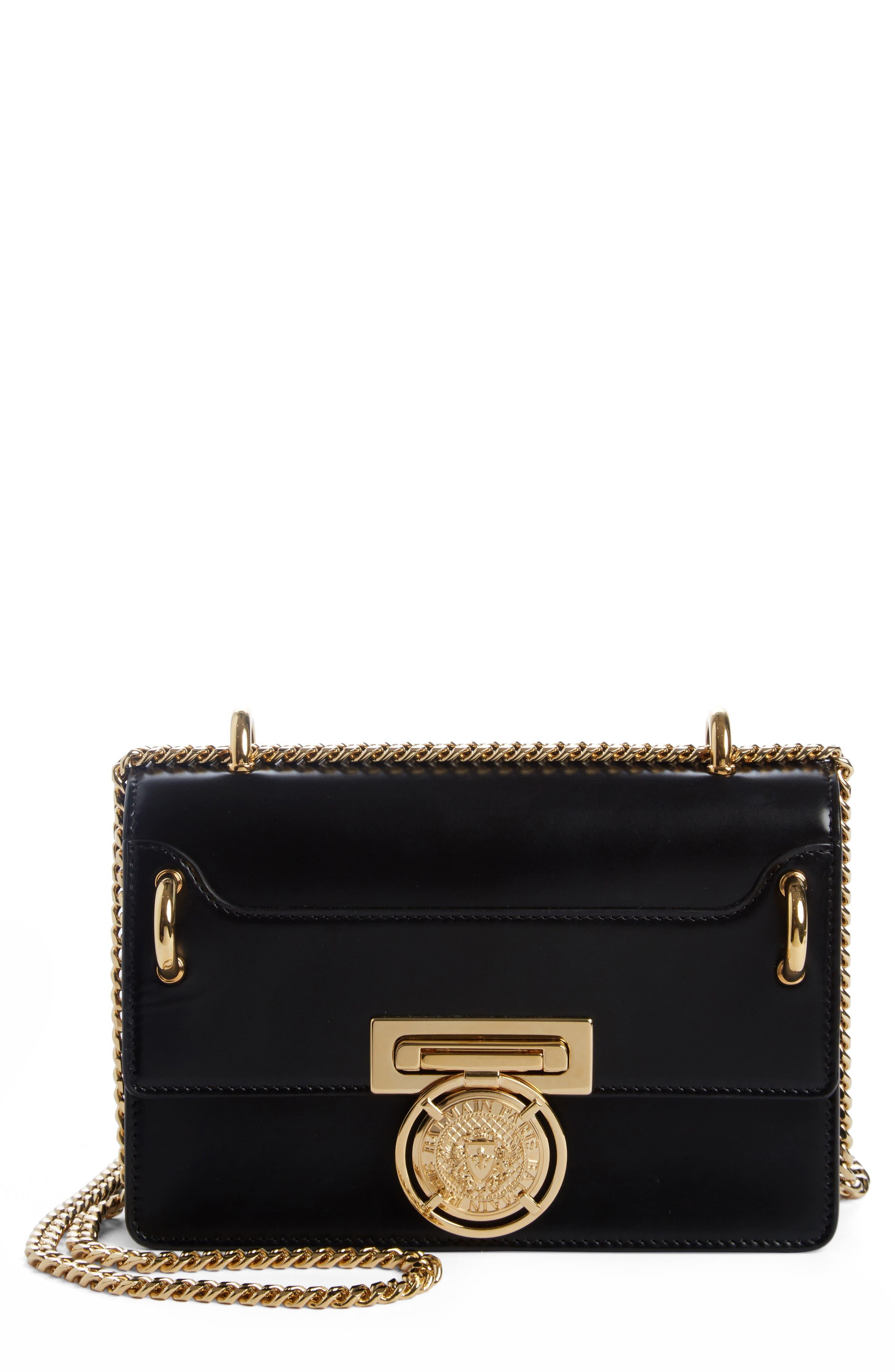 b3463e2b7b1 Balmain Glace Leather Box Shoulder Bag - Black | ModeSens