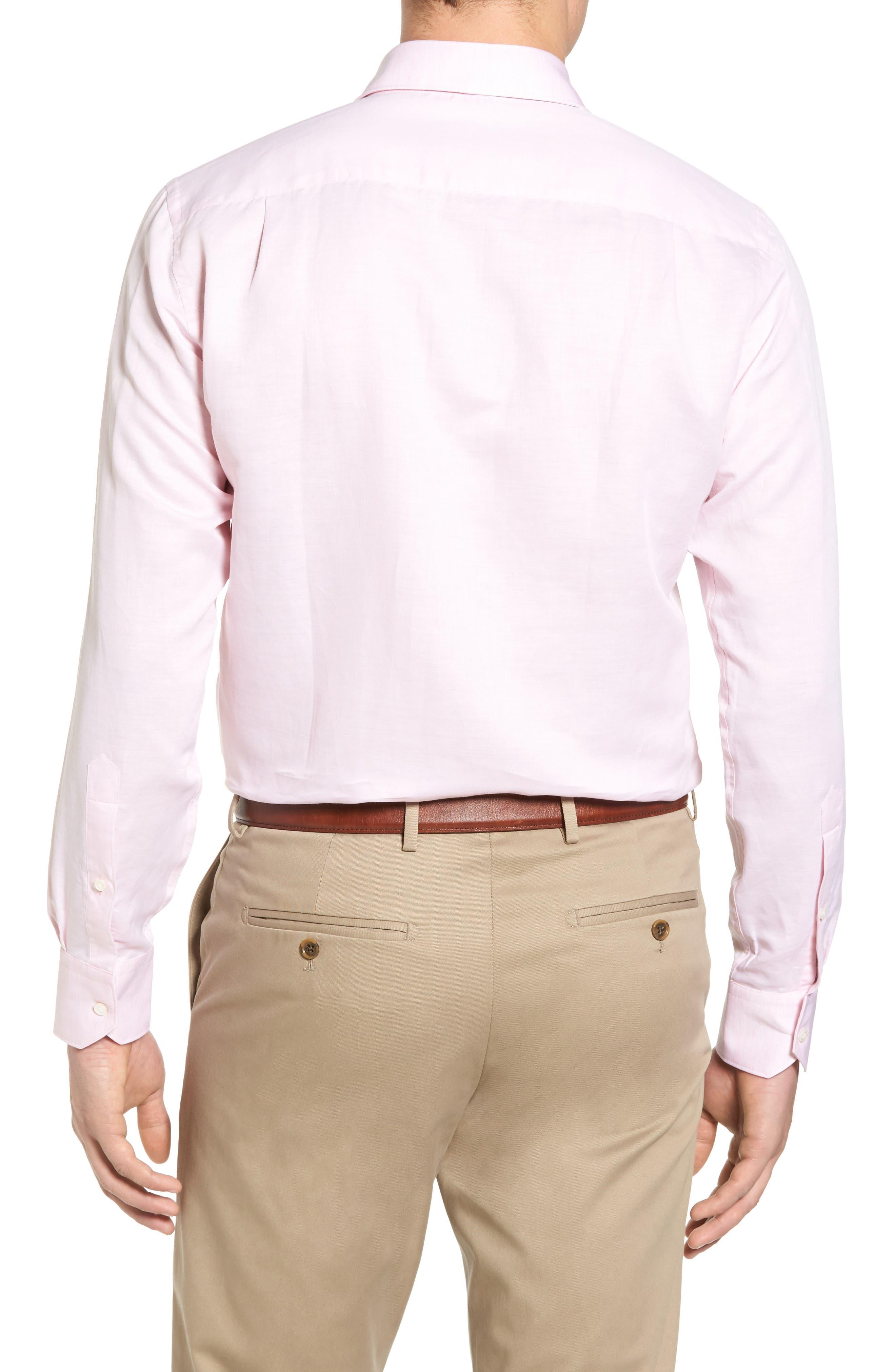 Alternate Image 2  - Peter Millar Collection Linen & Cotton Sport Shirt