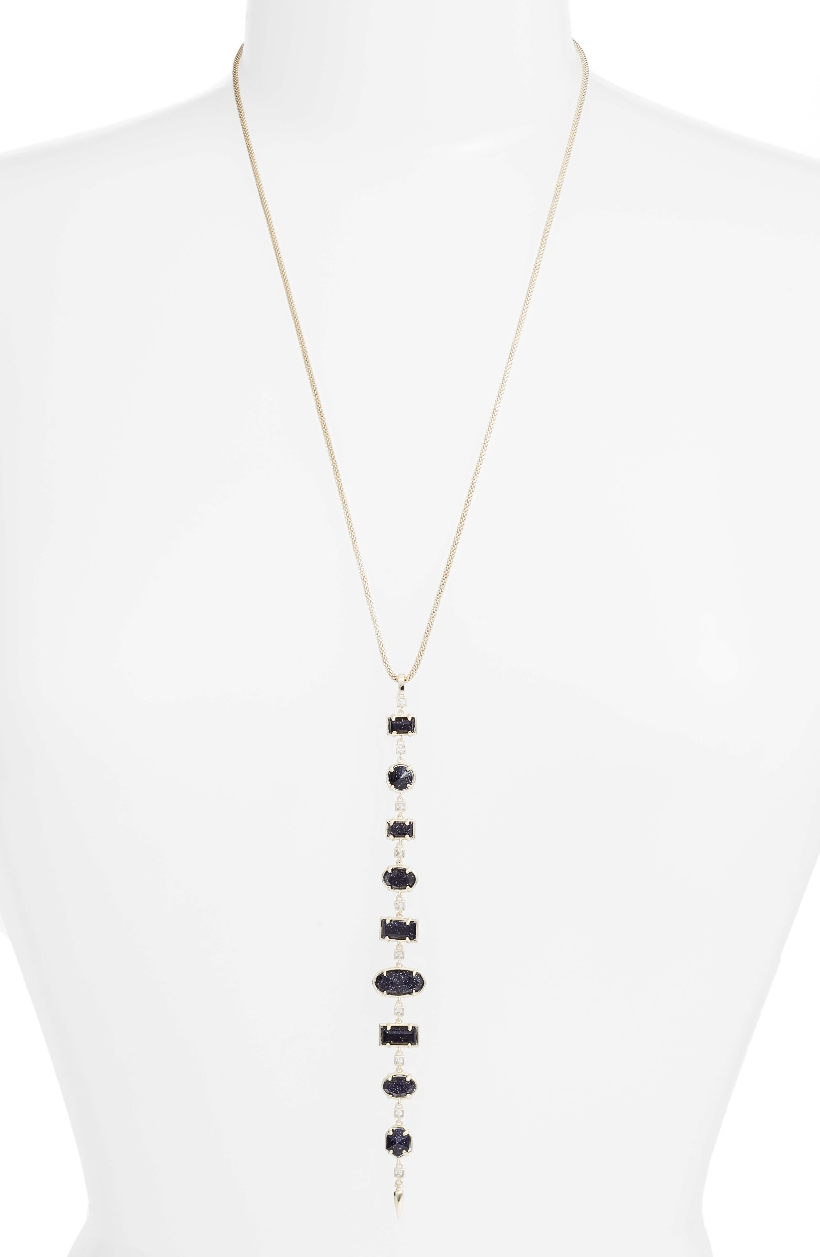 Kendra Scott Braxton Stone Drop Pendant Necklace (Nordstrom Exclusive)