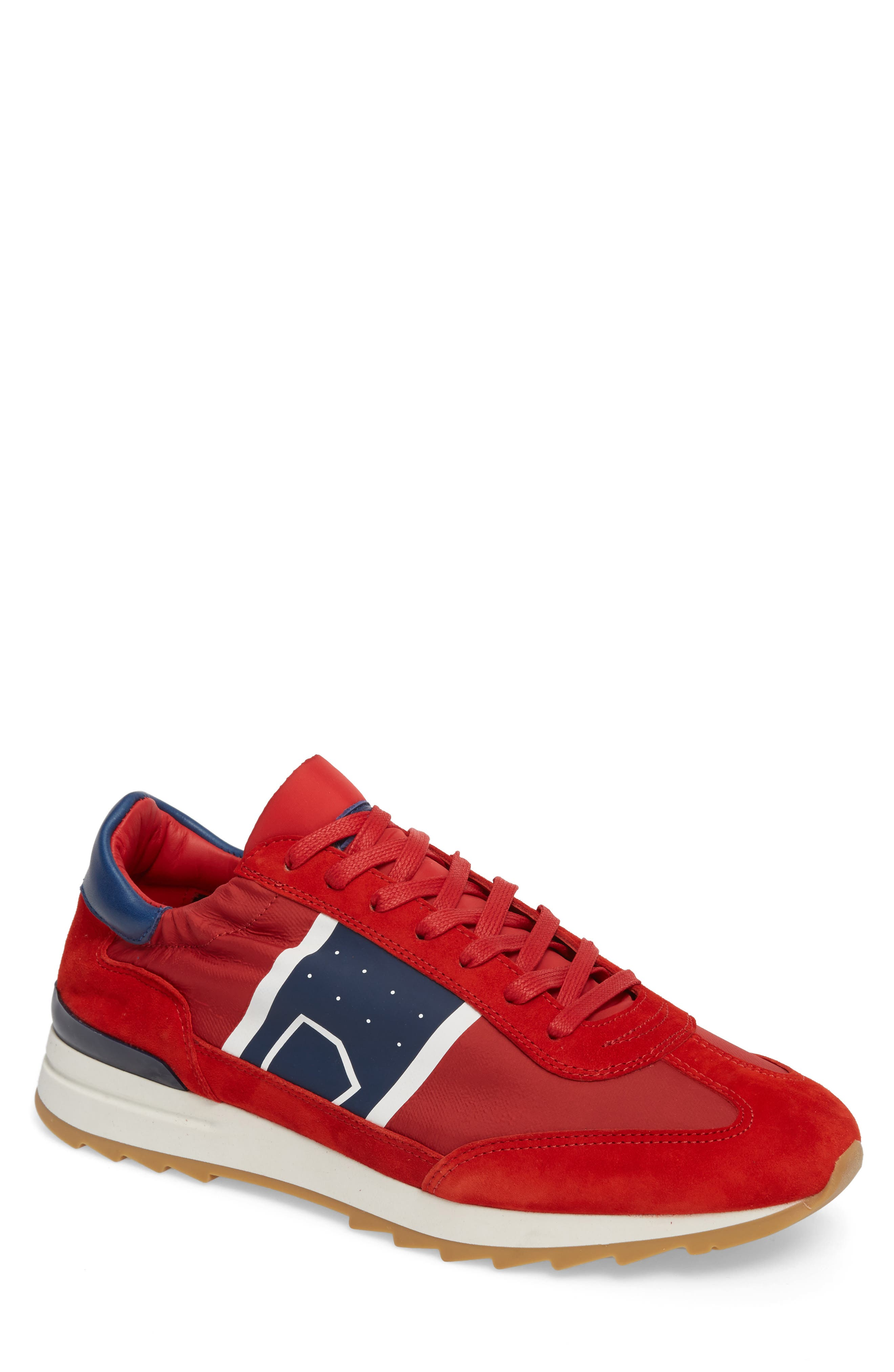 Toujours Sneaker,                         Main,                         color, Red/ Blue