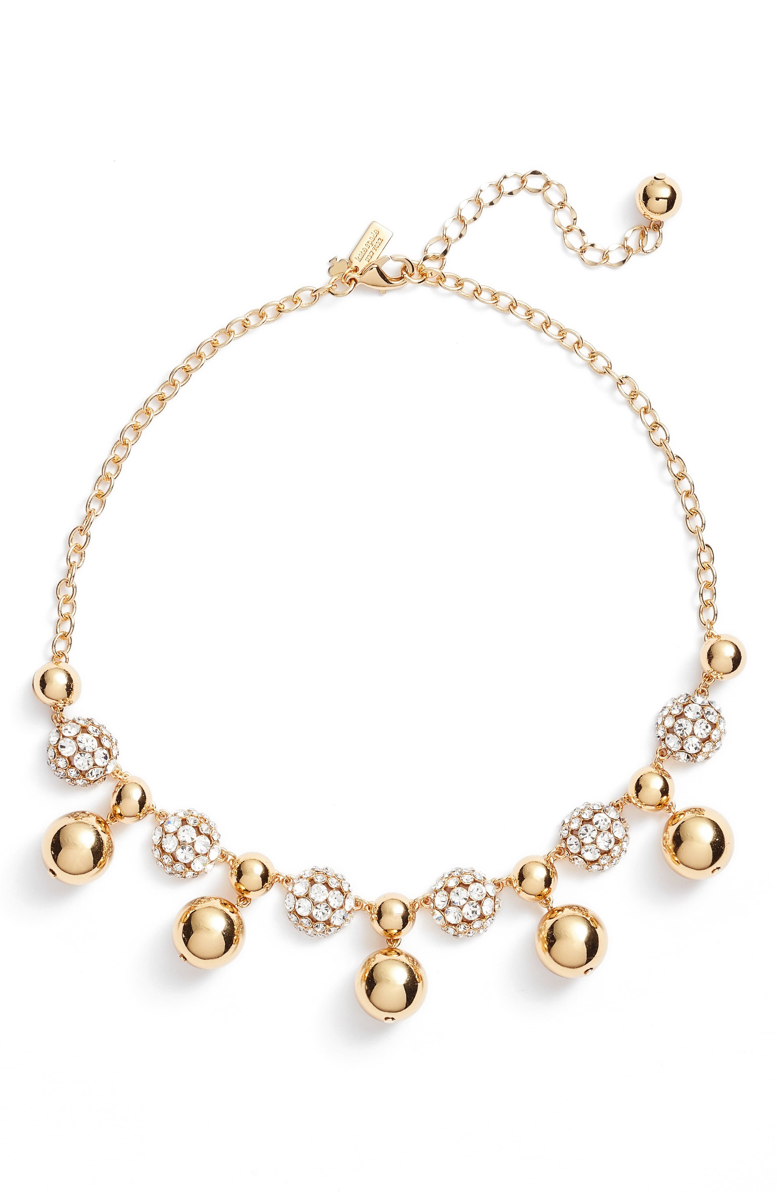 kate spade new york light up the room crystal collar necklace