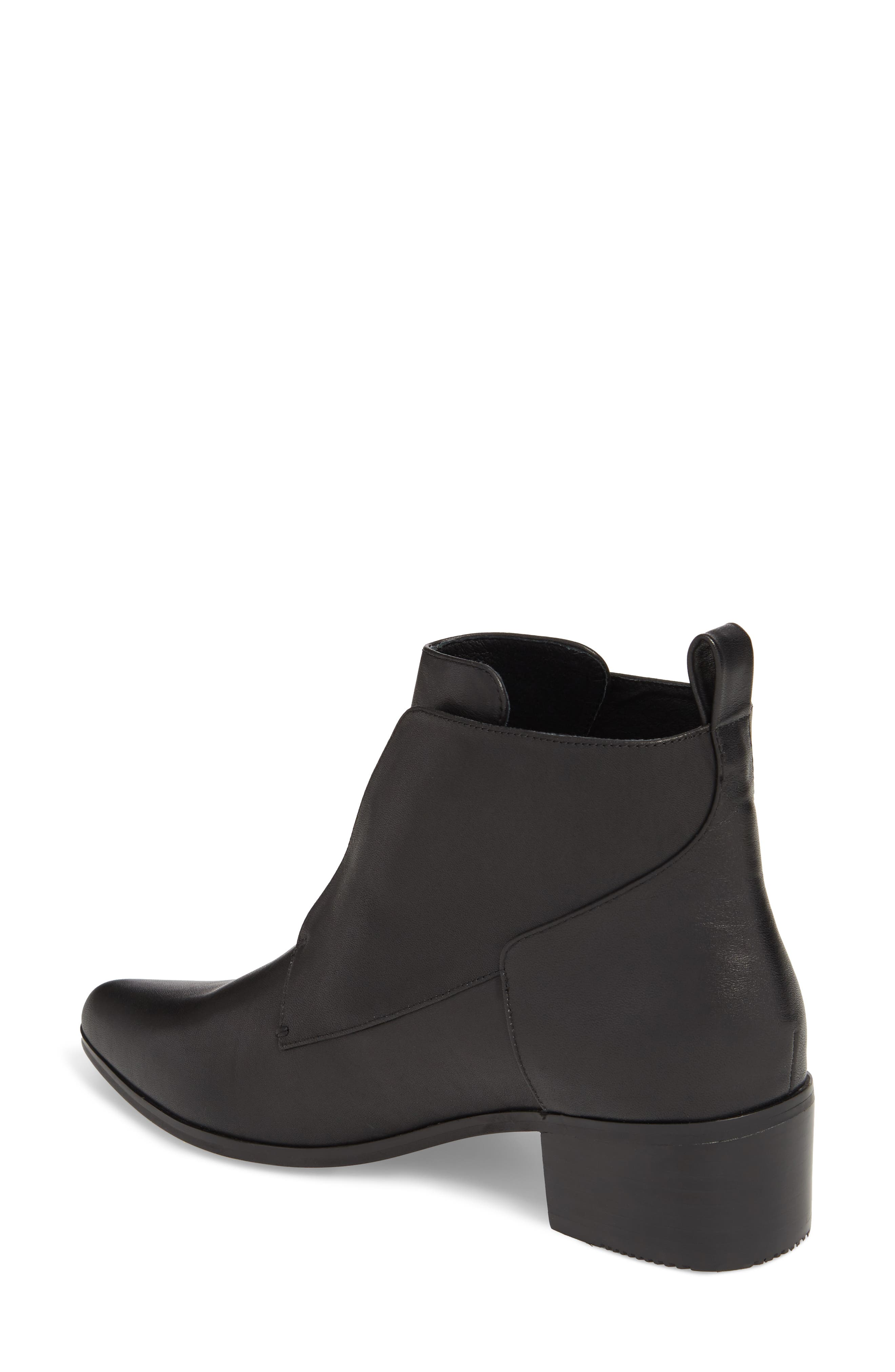 Walter Laceless Bootie,                             Alternate thumbnail 2, color,                             Black Leather