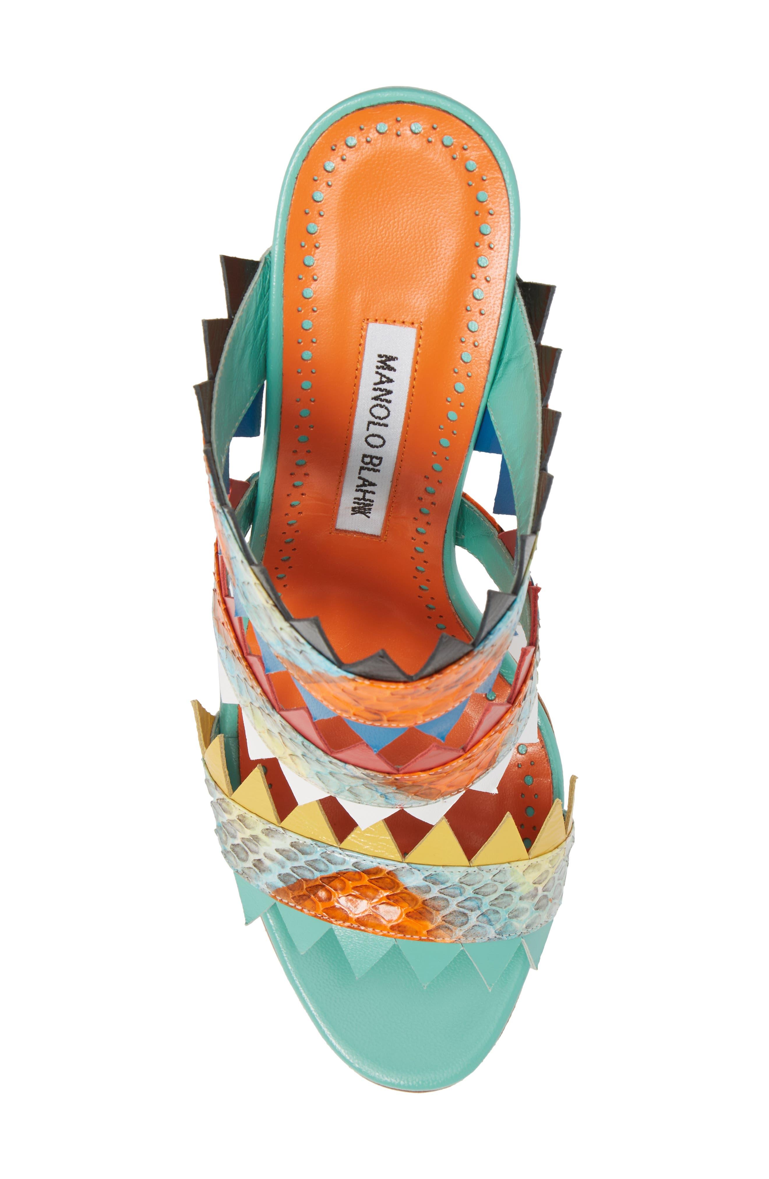 Arpege Mule Sandal,                             Alternate thumbnail 5, color,                             Watersnake Multi