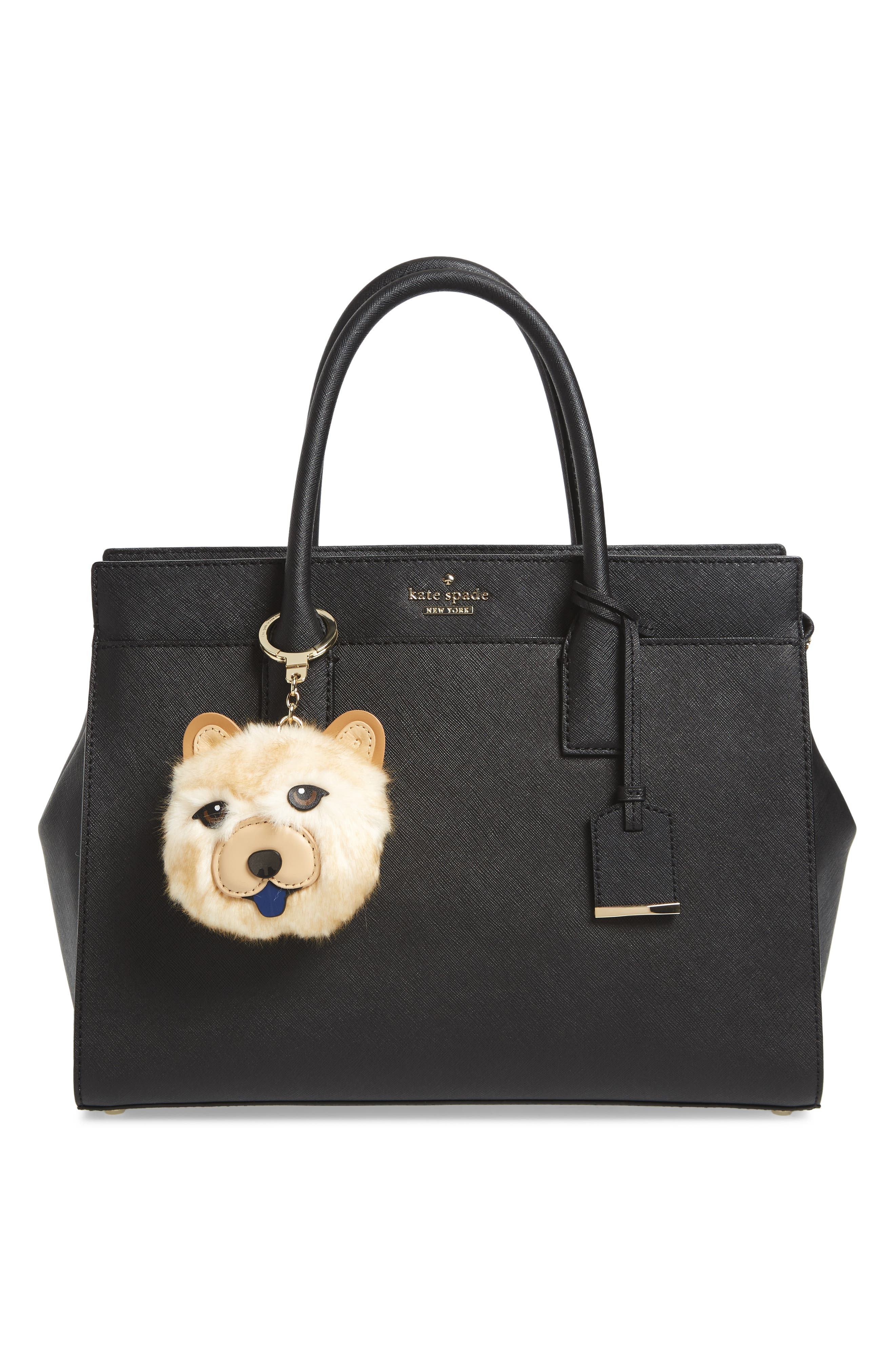 Alternate Image 2  - kate spade new york chow chow dog bag charm with faux fur