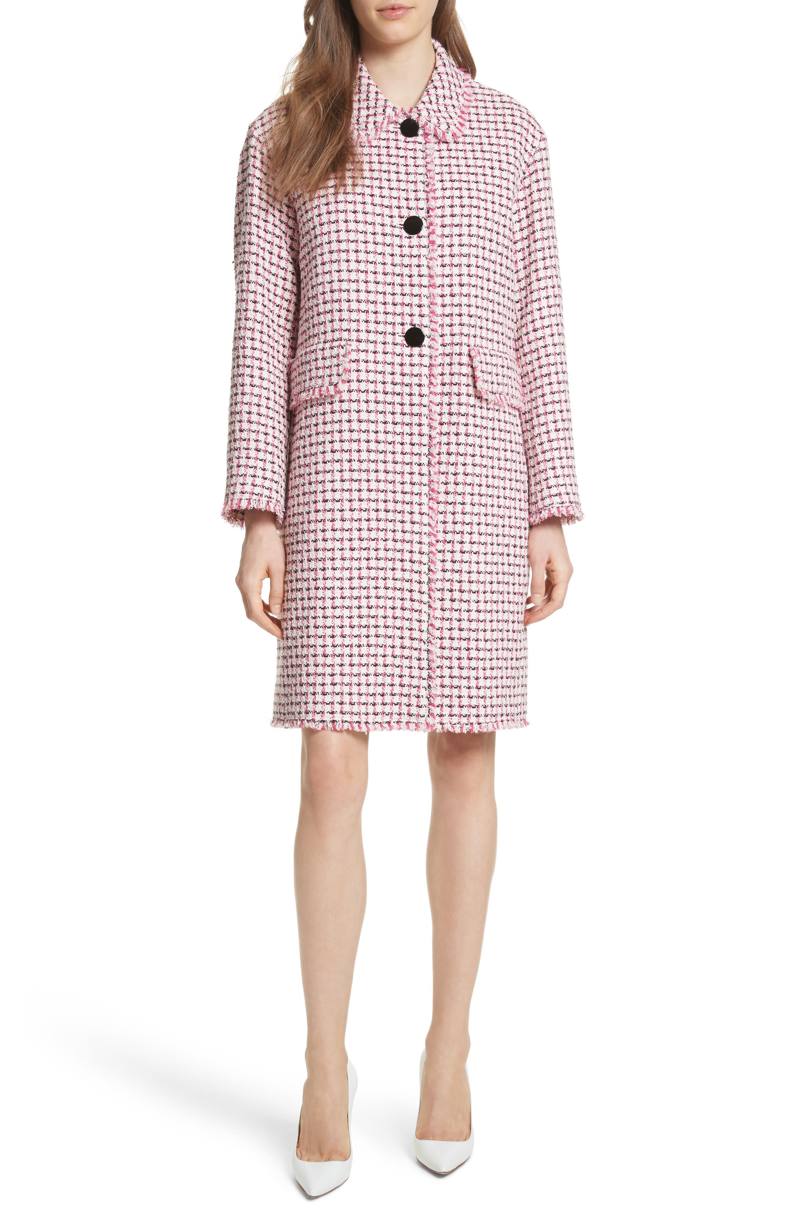 kate spade new york tweed coat