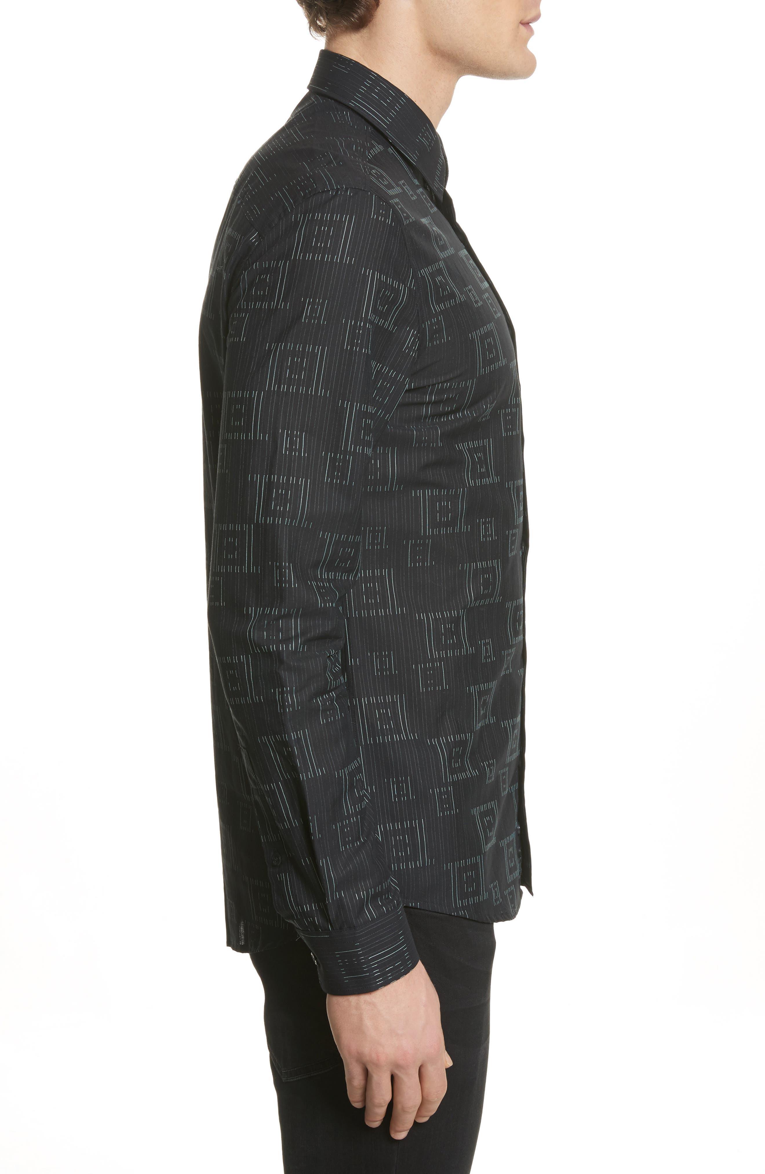Alternate Image 4  - Versace Collection Frame Print Shirt