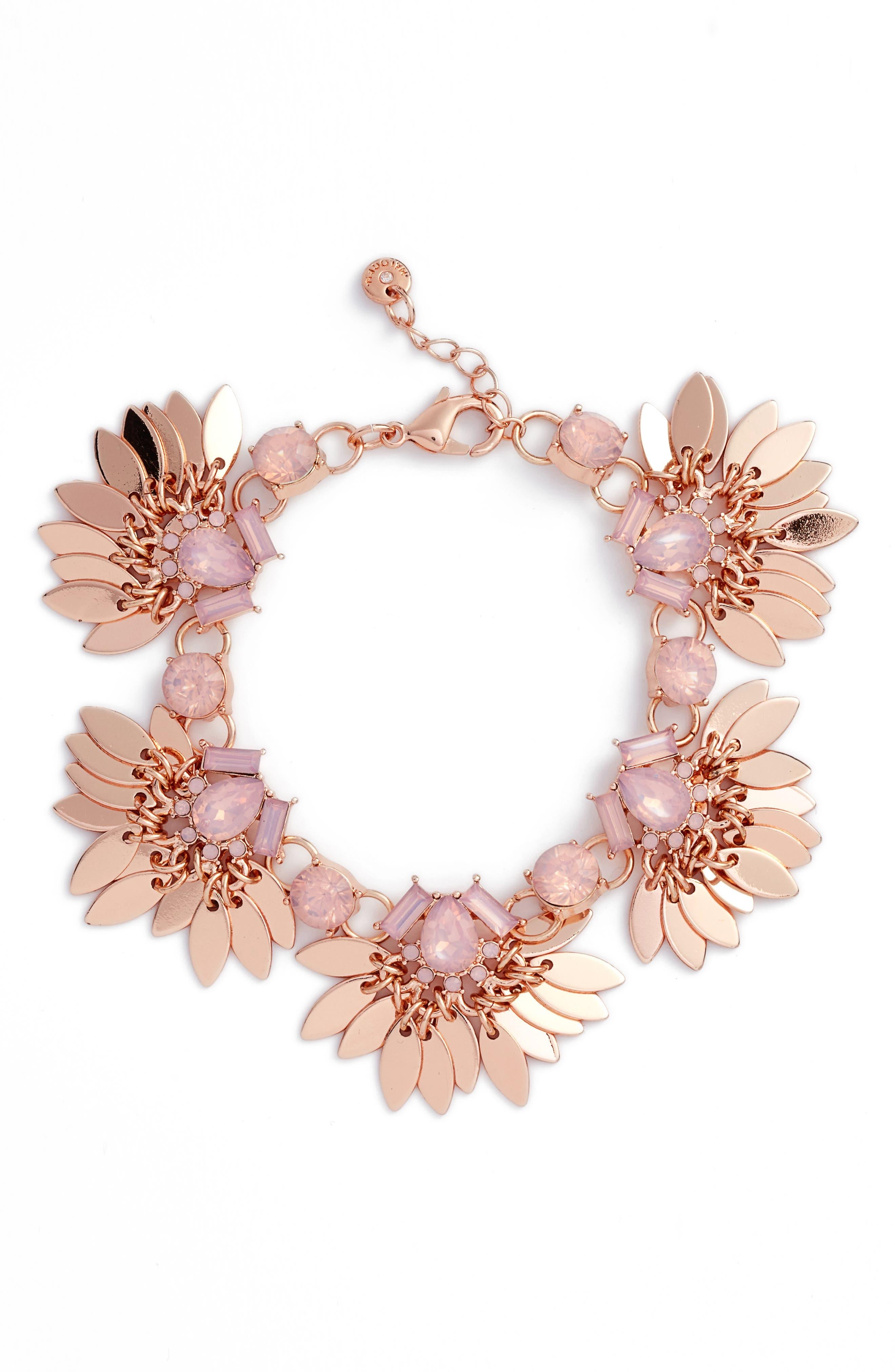 Main Image - Halogen® Tassel Leaf Bracelet