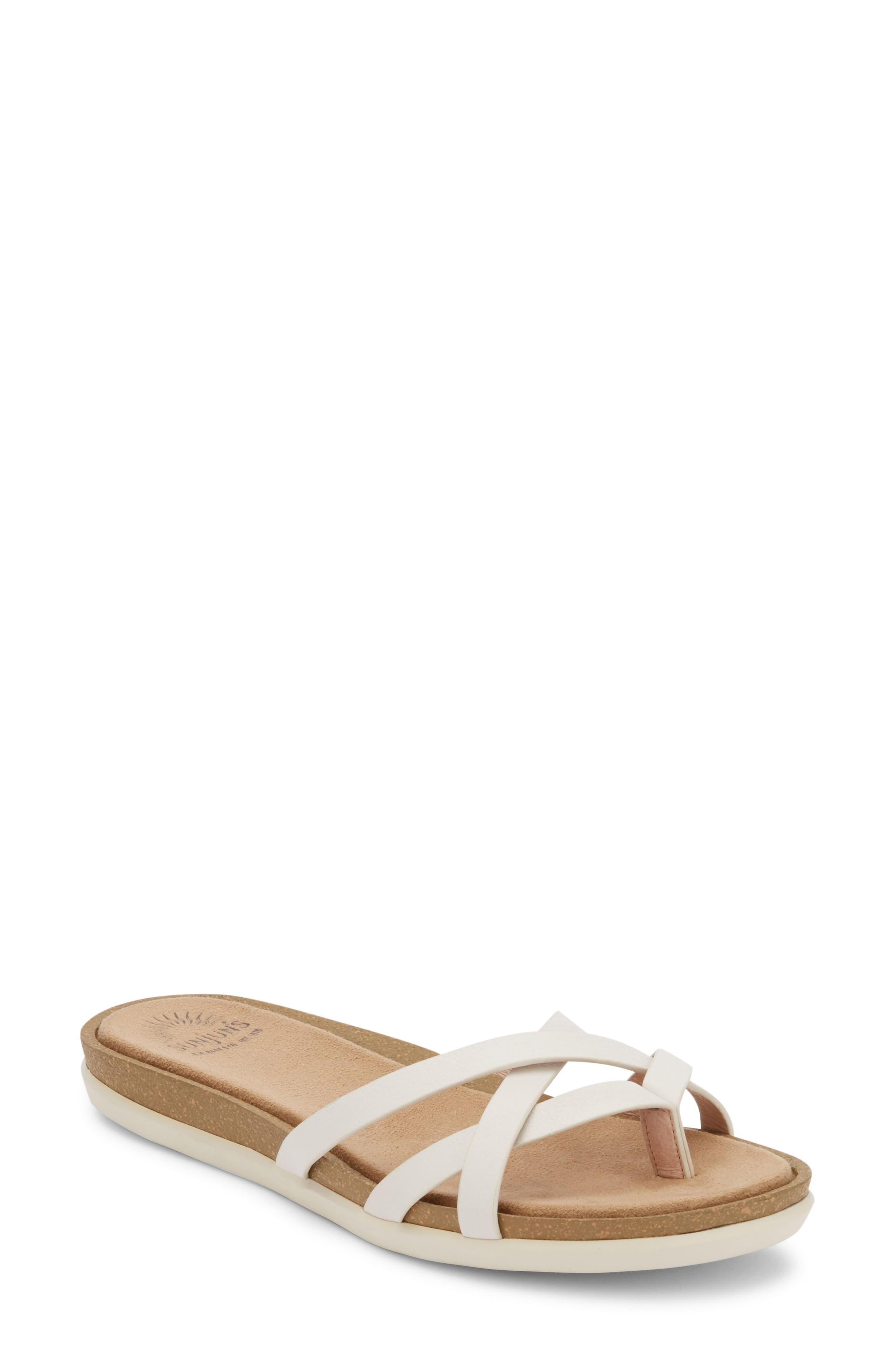 G.H. BASS & CO. Sharon Sandal in White Leather