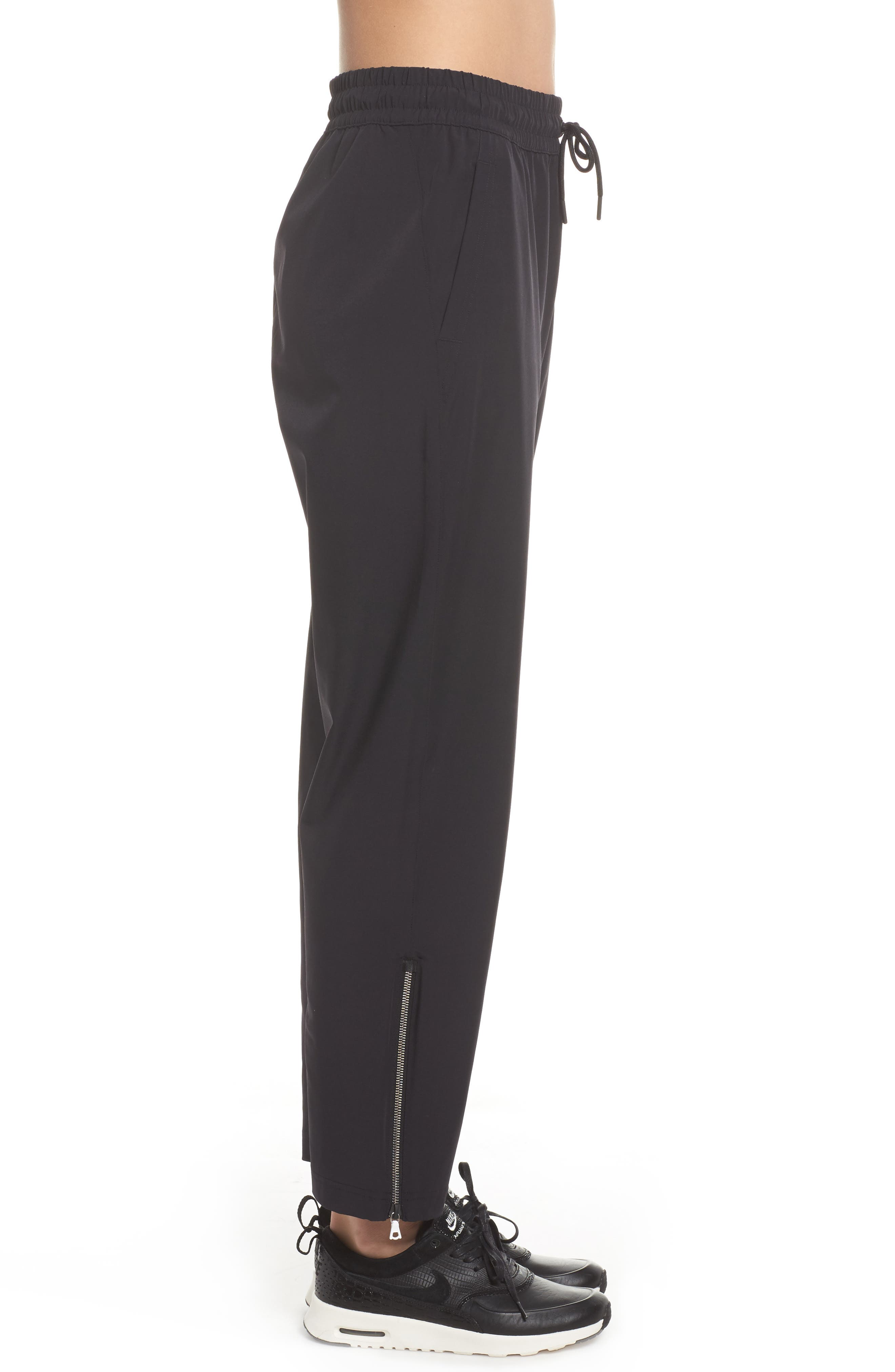 NikeLab Stretch Woven Training Pants,                             Alternate thumbnail 3, color,                             Black/ Black