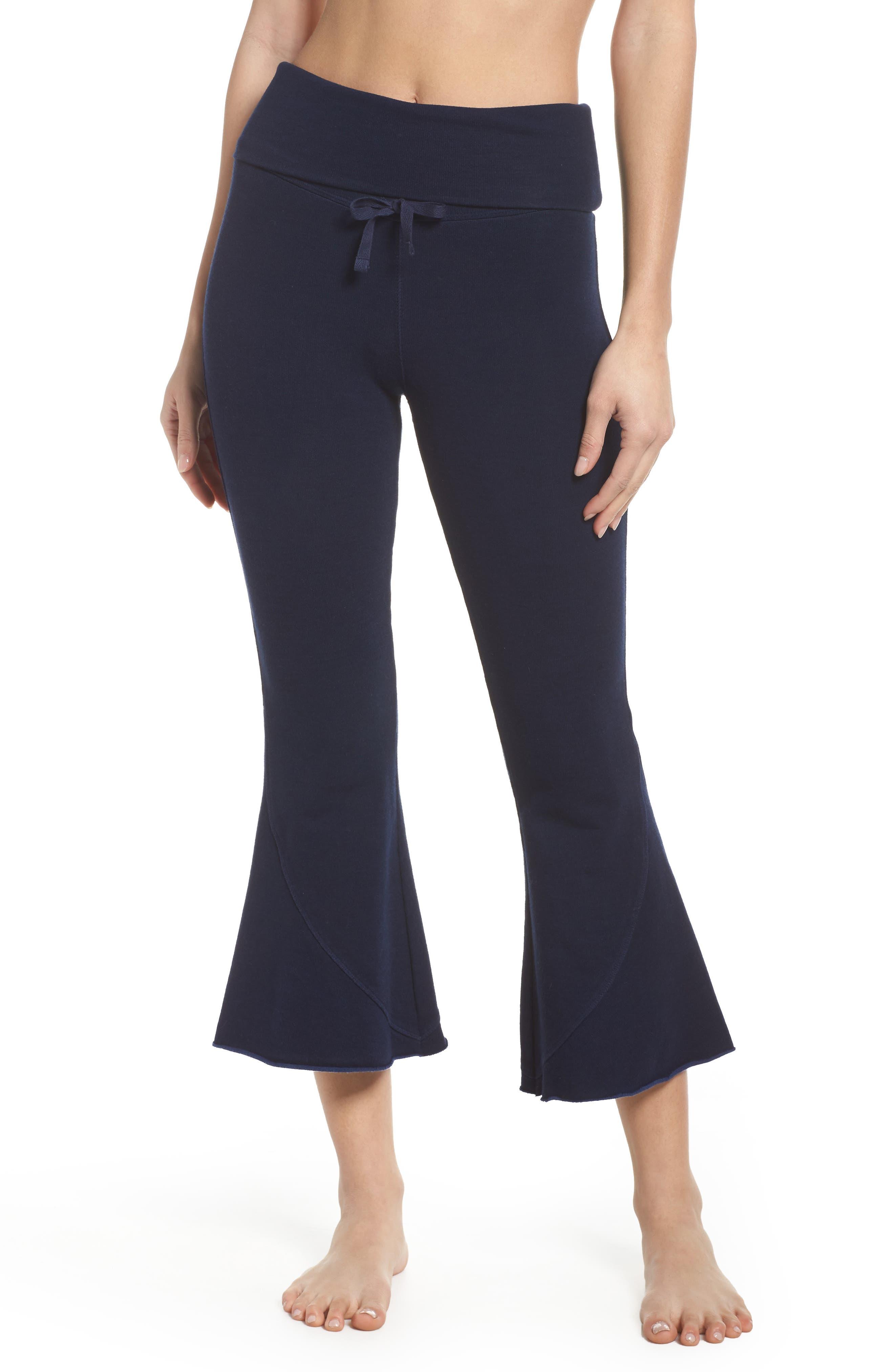 FP Movement Nico Crop Flare Sweatpants,                         Main,                         color, Navy