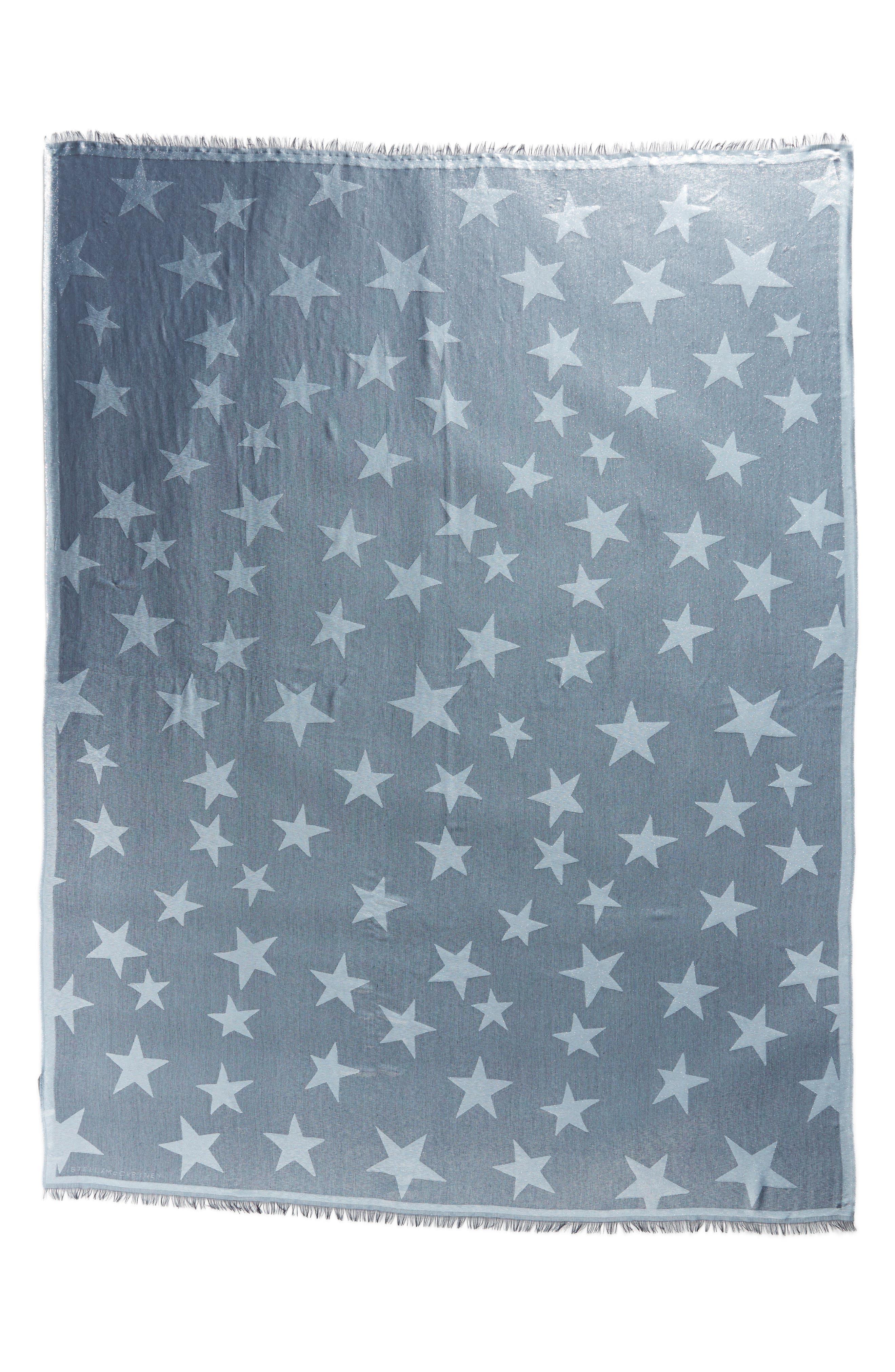 Star Jacquard Scarf,                             Alternate thumbnail 2, color,                             Ink