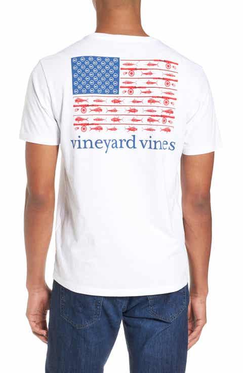 Men 39 s t shirts graphic tees for Vineyard vines fishing shirt