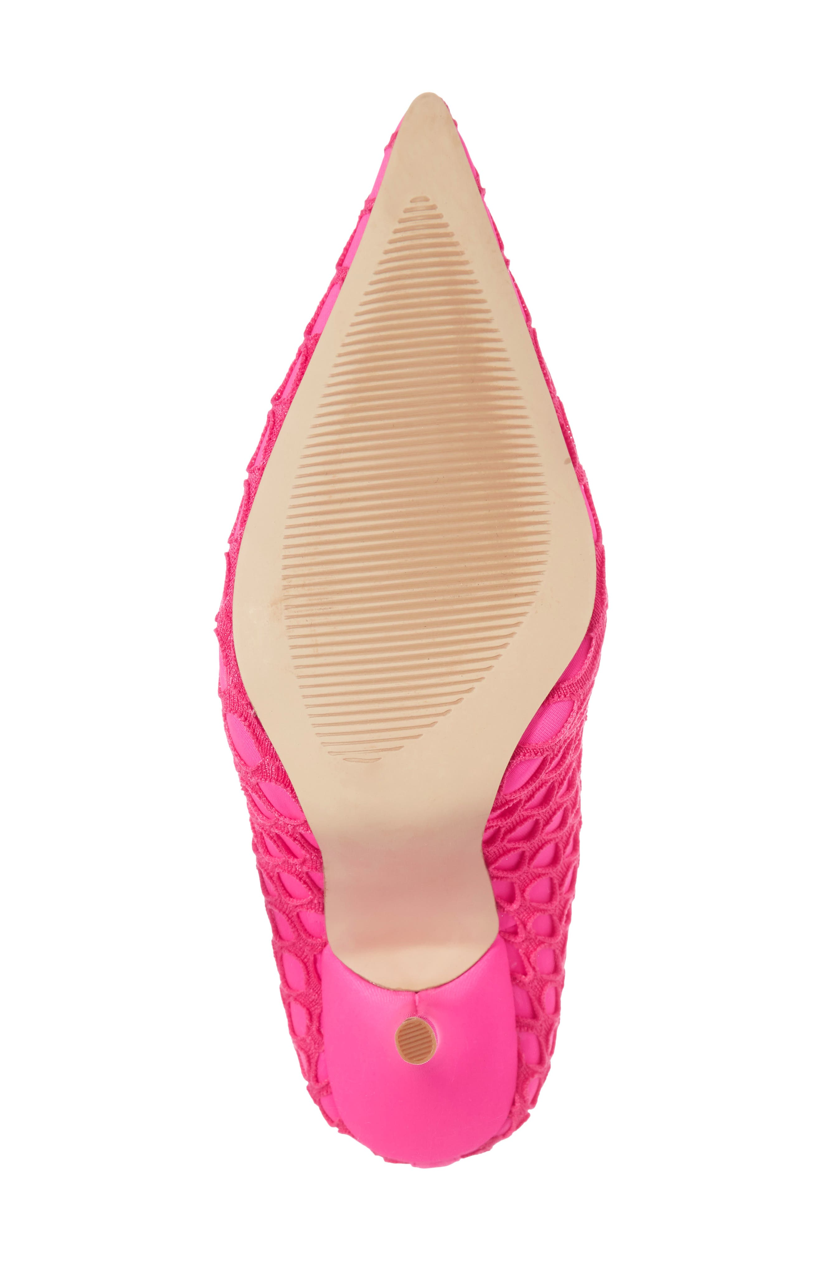 Heidi Mesh Sock Bootie,                             Alternate thumbnail 6, color,                             Neon Pink Fabric