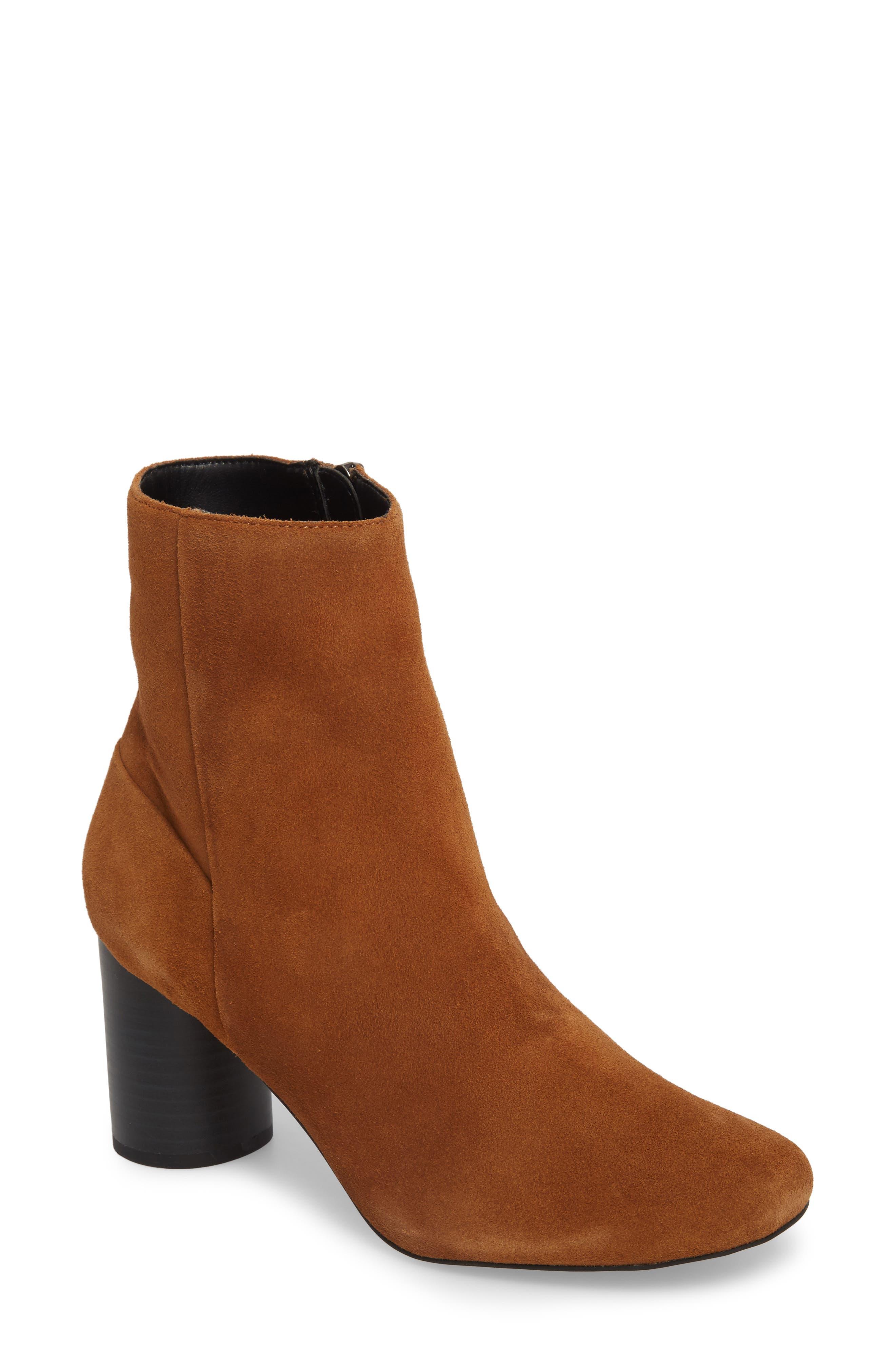 Topshop Column Heel Bootie (Women)