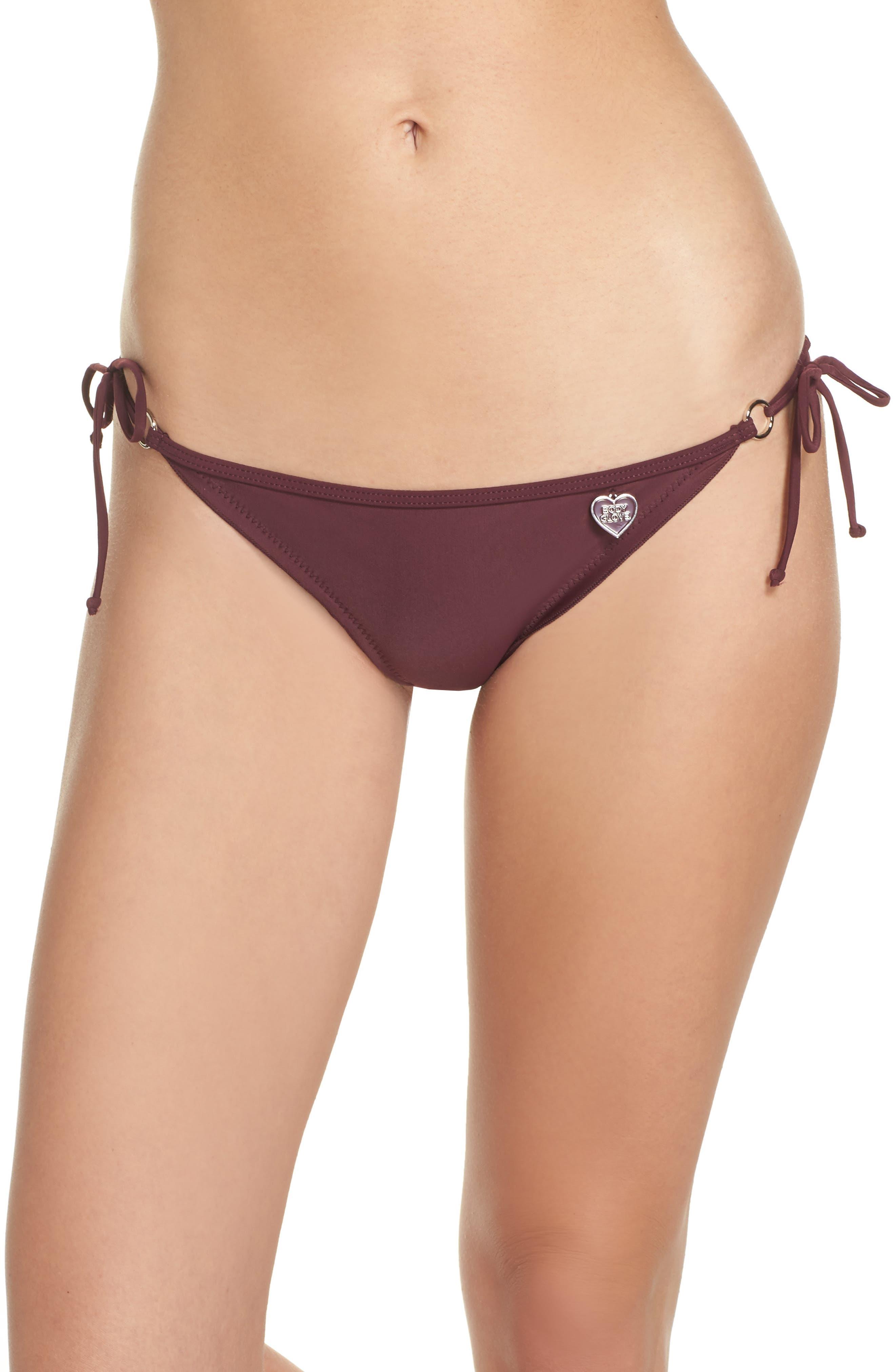 'Smoothies - Brasilia' Side Tie Bikini Bottoms,                             Main thumbnail 1, color,                             Porto