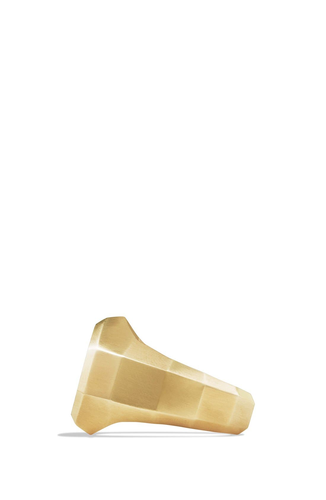 'Faceted' Signet Ring with 18k Gold,                             Alternate thumbnail 3, color,                             Two Tone