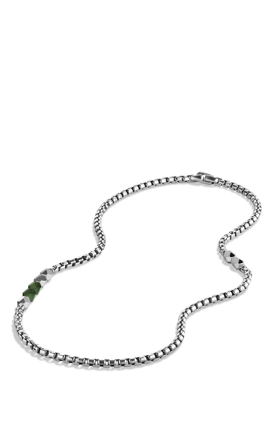 'Faceted' Metal Necklace,                             Alternate thumbnail 2, color,                             Jade