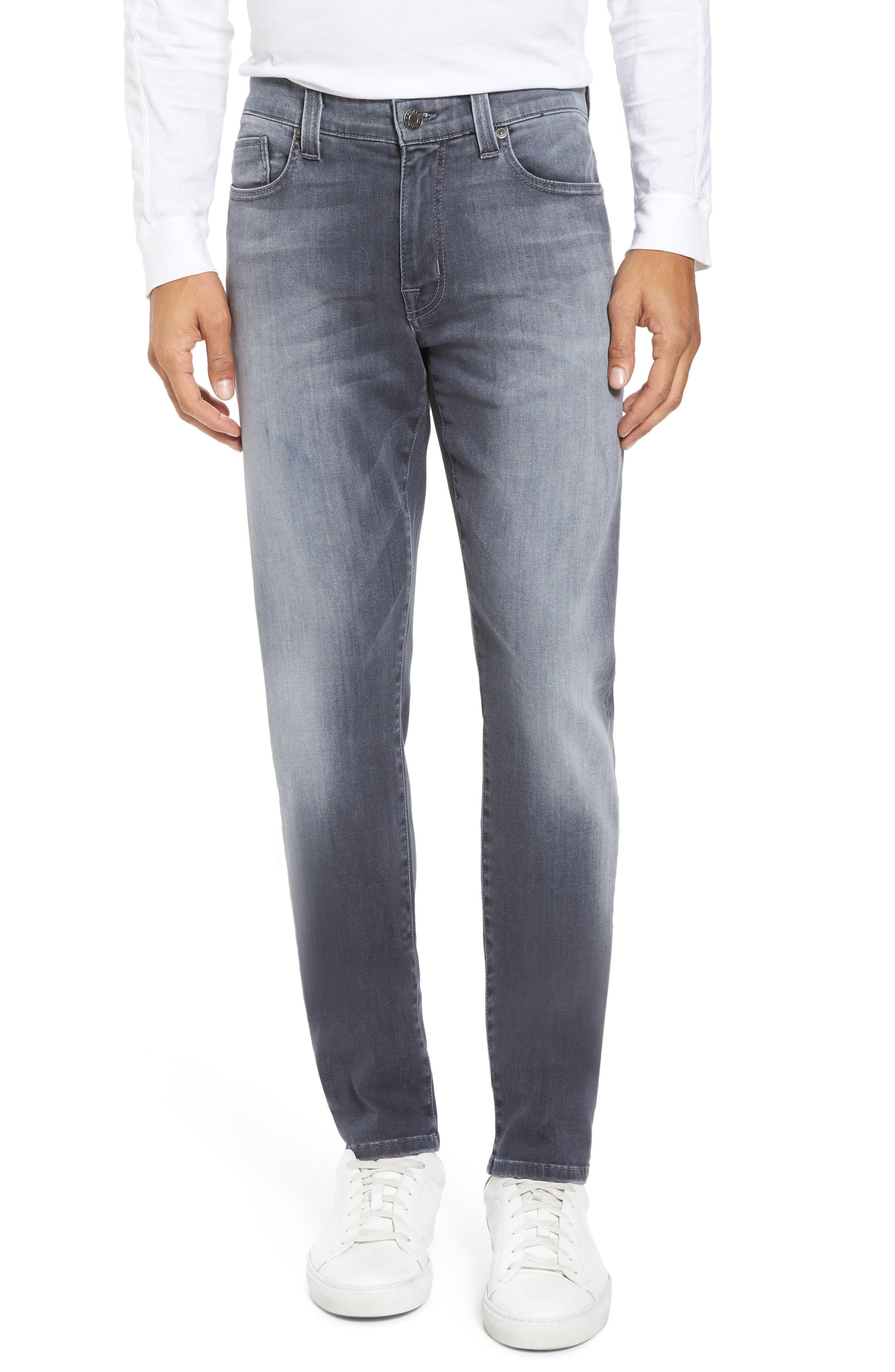 Alternate Image 1 Selected - Fidelity Denim Torino Slim Fit Jeans (Fade To Grey)