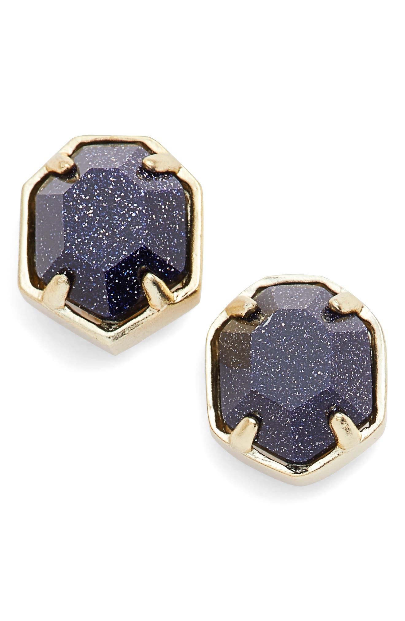 'Logan' Stud Earrings,                             Main thumbnail 1, color,                             Blue/ Gold