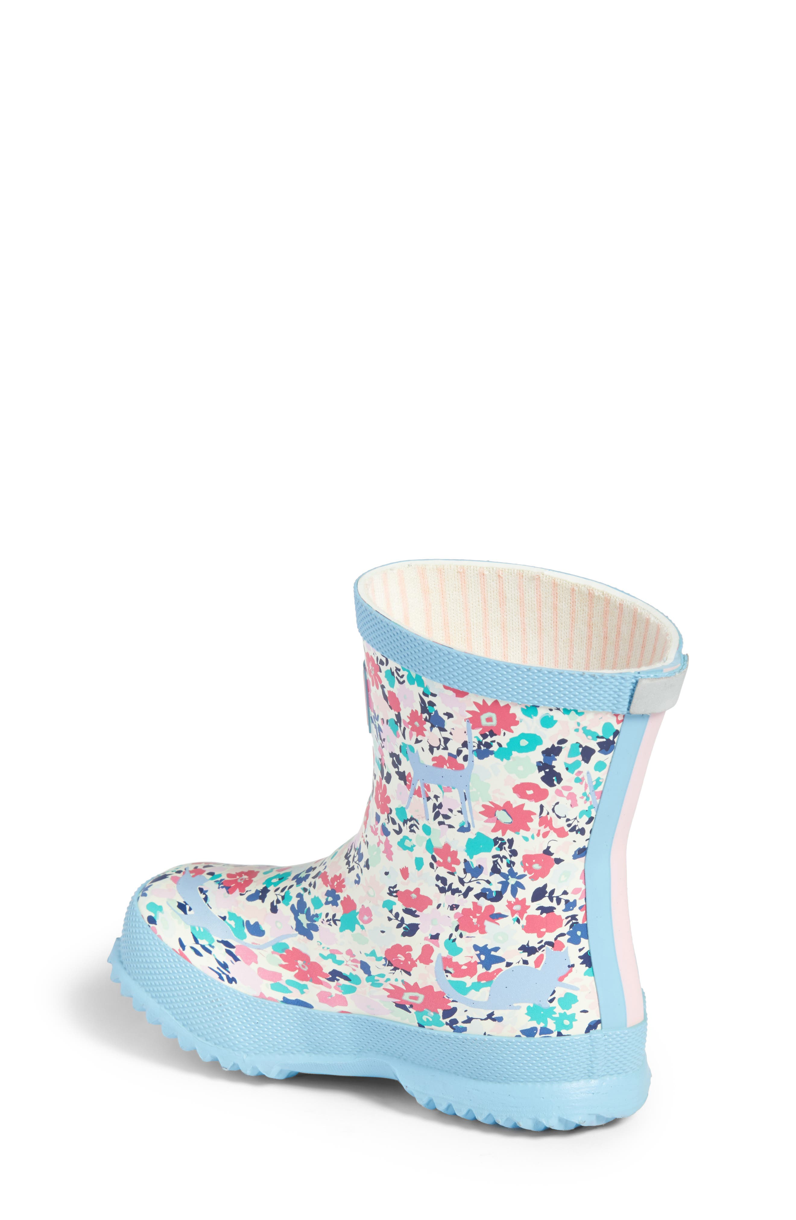 Baby Welly Print Waterproof Boot,                             Alternate thumbnail 2, color,                             Pretty Kitty Ditsy