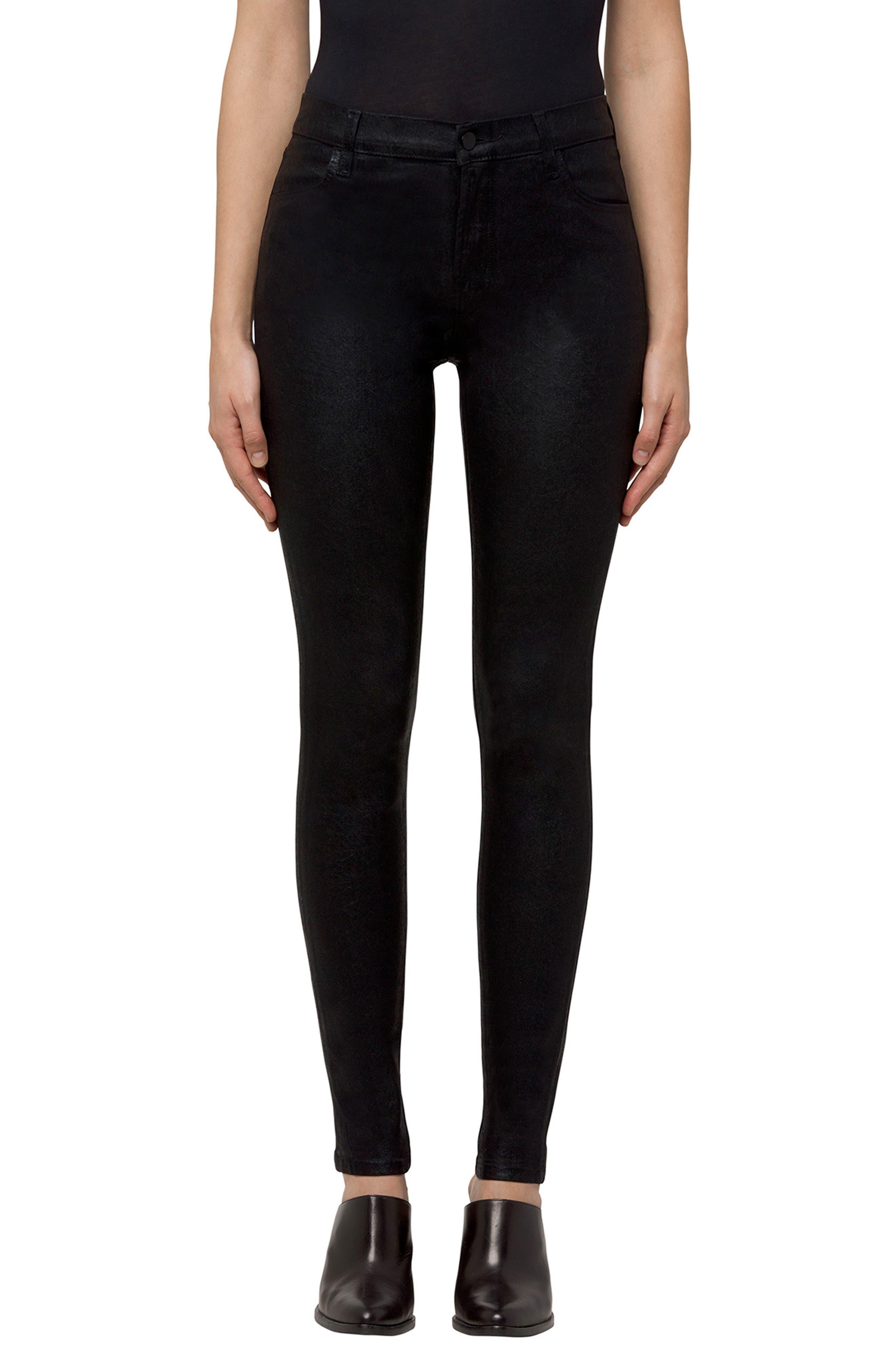 Maria High Waist Velvet Skinny Jeans,                             Main thumbnail 1, color,                             Crystalline